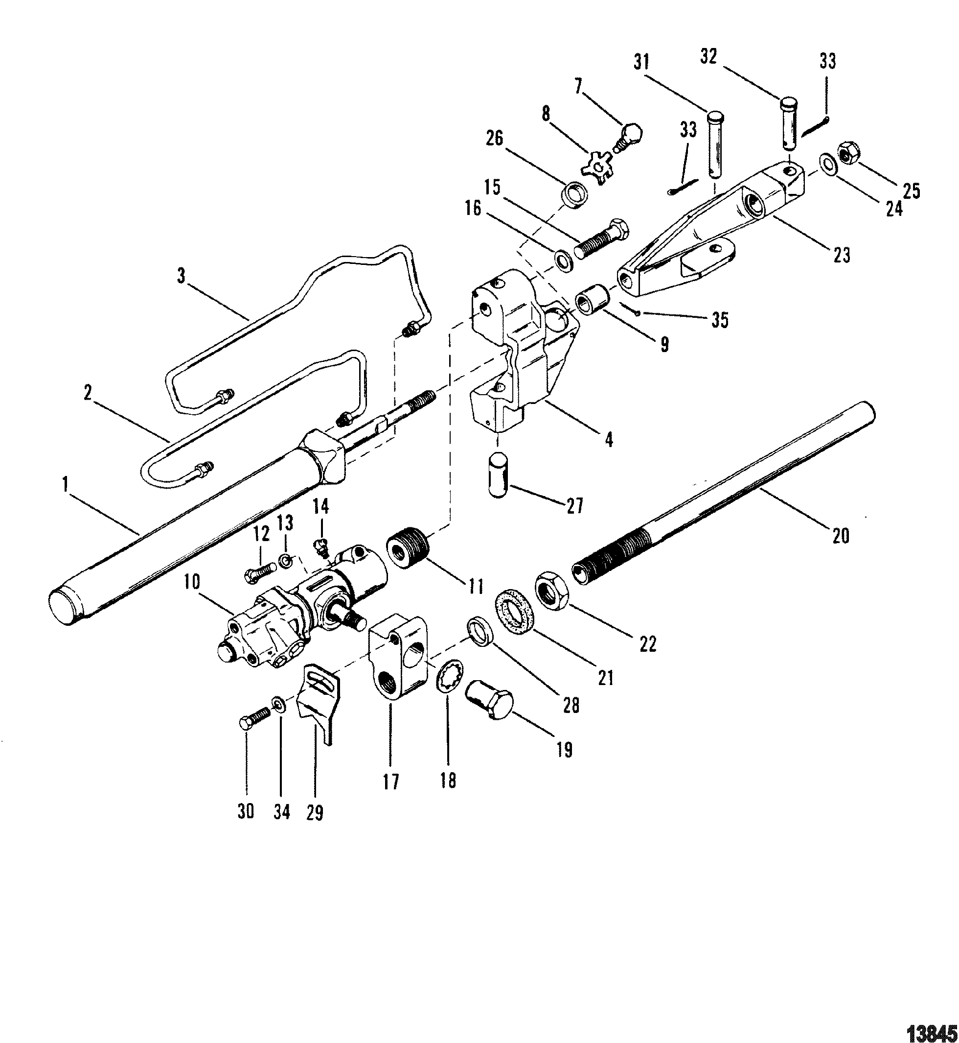 Show product on power steering schematic
