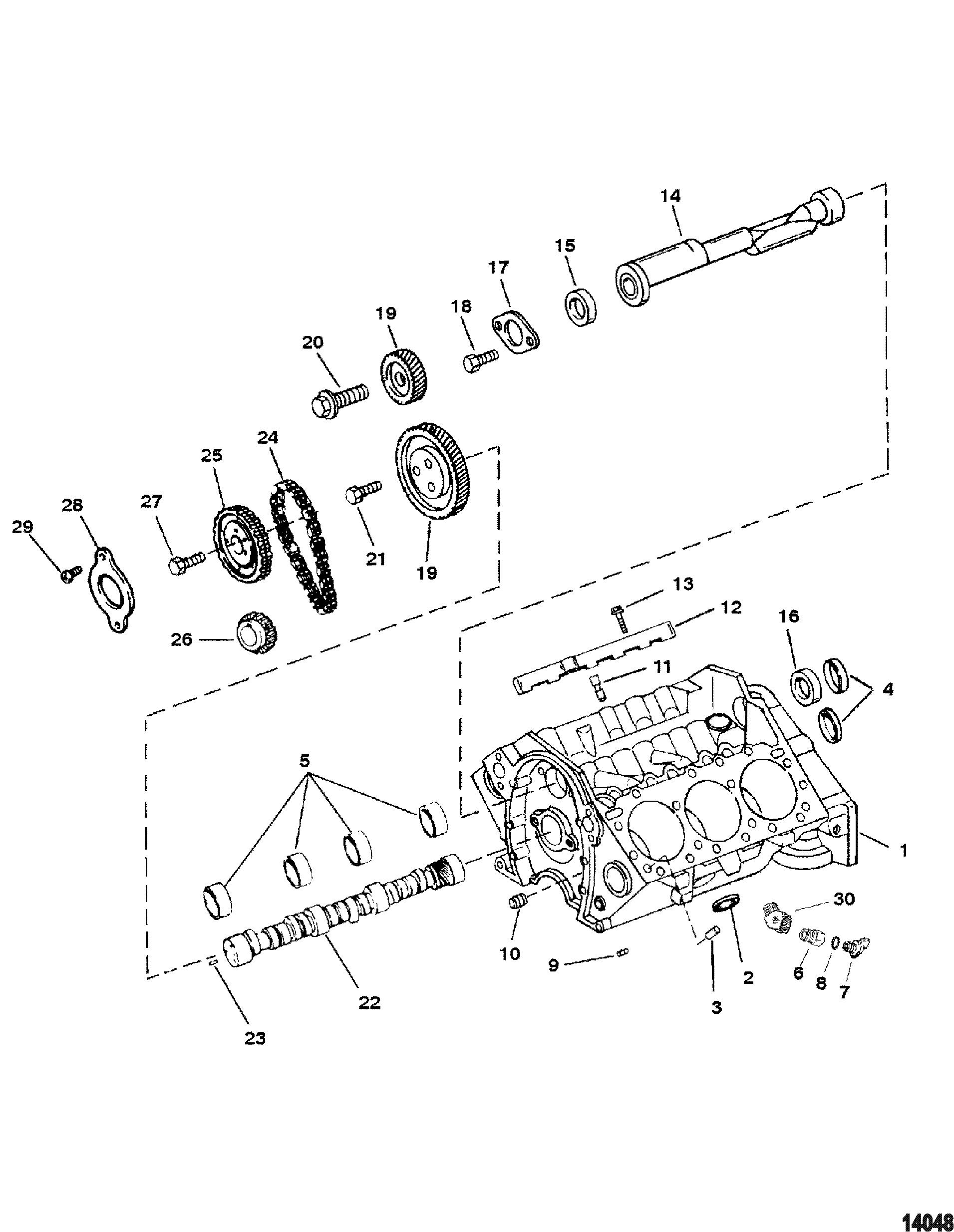 cylinder block and camshaft for mercruiser 4 3l alpha