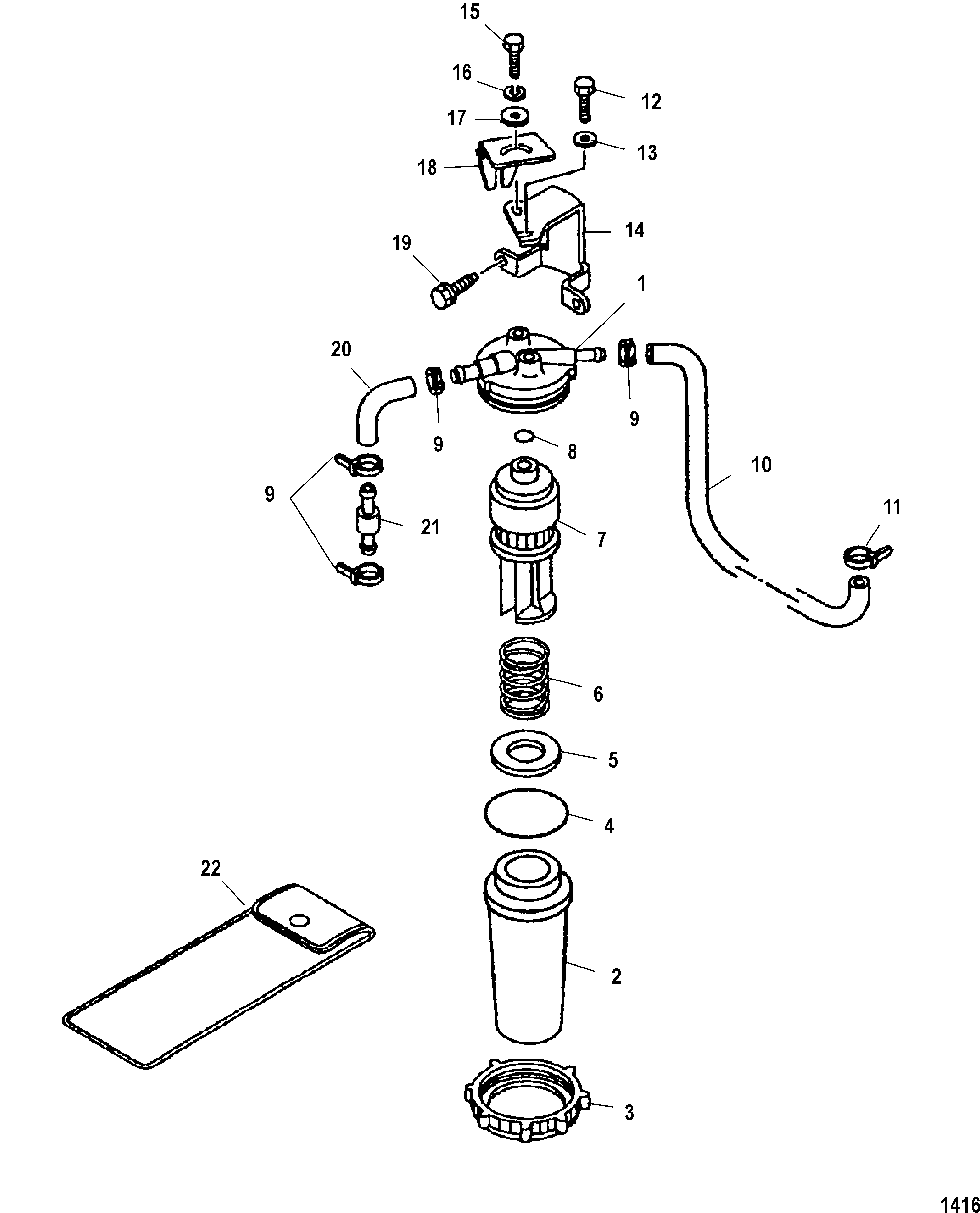 mercury 225 efi fuel filter