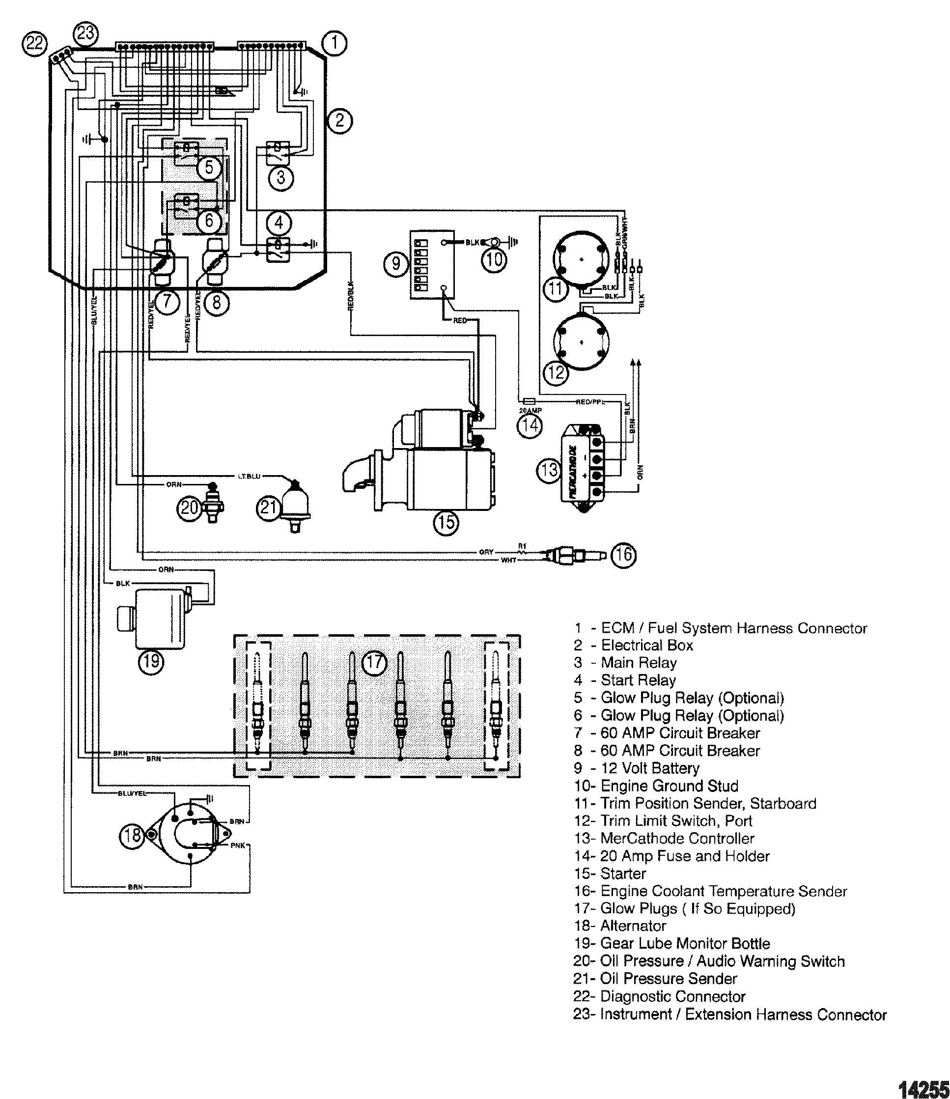 Engine Harness For Mercruiser Mie Cummins Mercruser Diesel 28l Jd 165 Wiring Diagram 42l 250