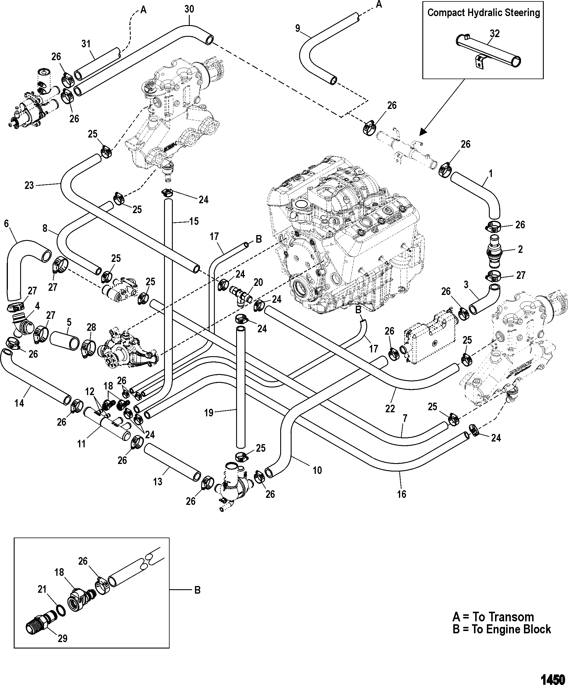standard cooling system easy drain for mercruiser 4 3l mpi 2001 3400 Grand  AM 2003 pontiac grand am engine parts diagram