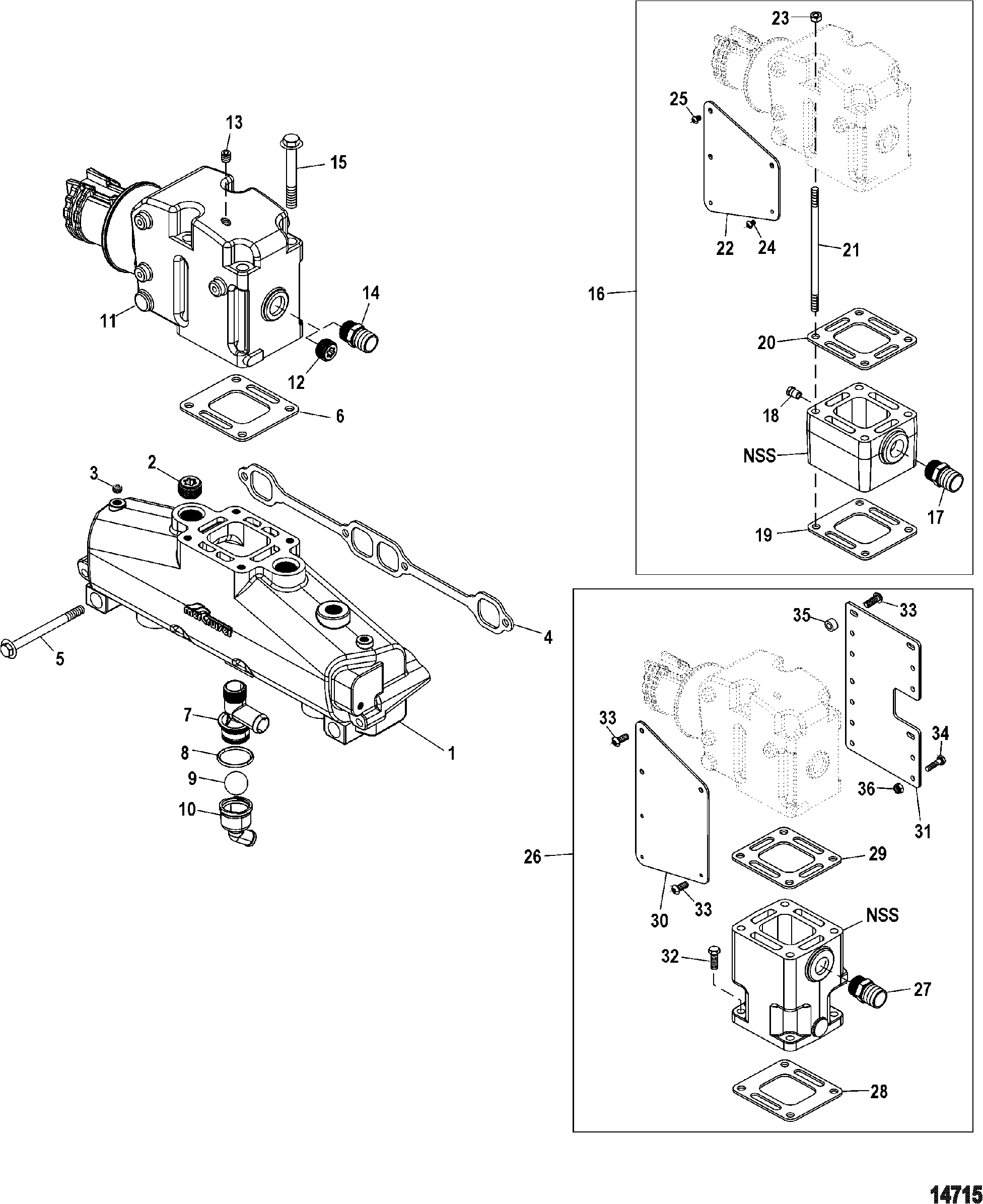 Show product on fuel valve manifold diagram