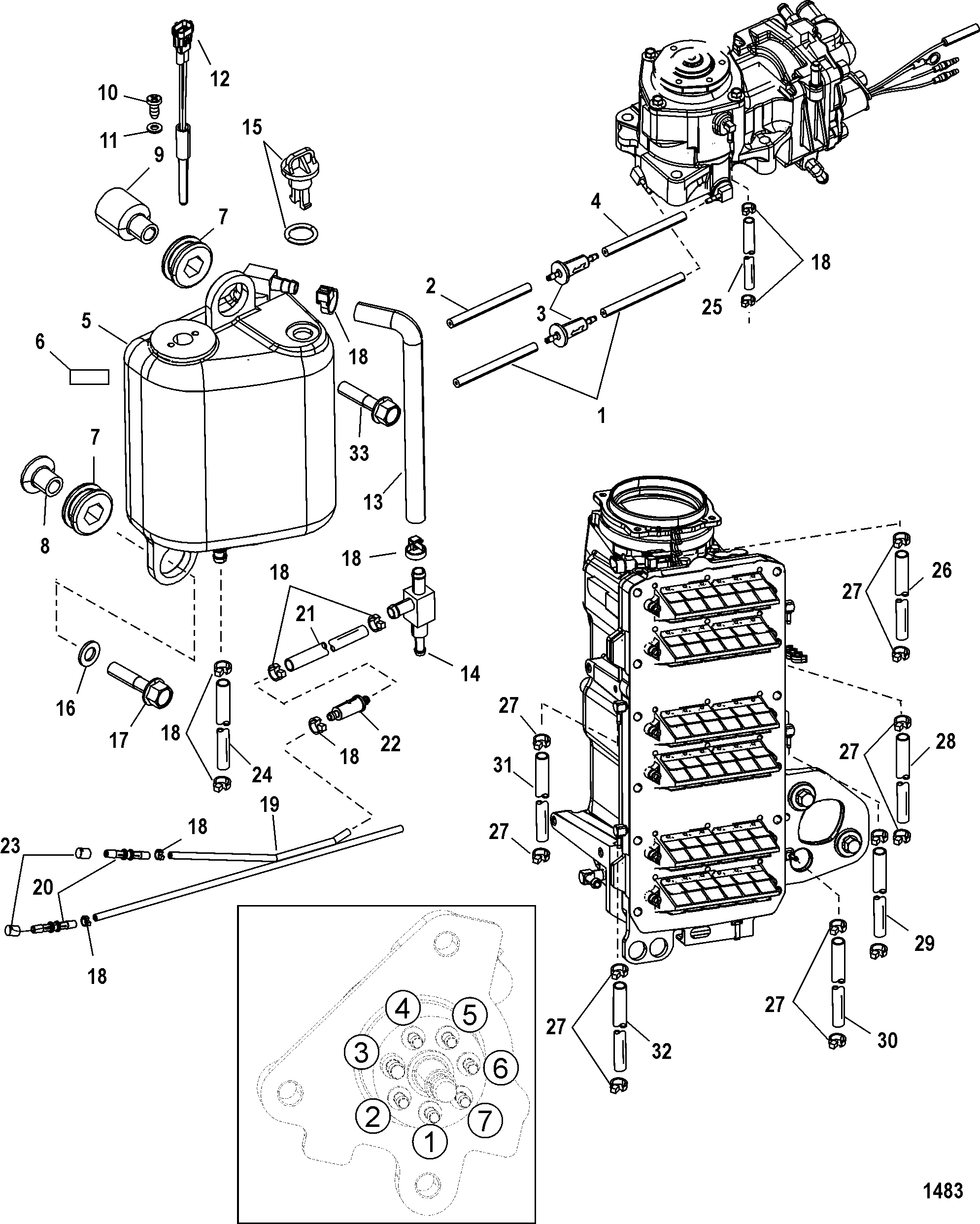 mercury optimax cooling system diagram