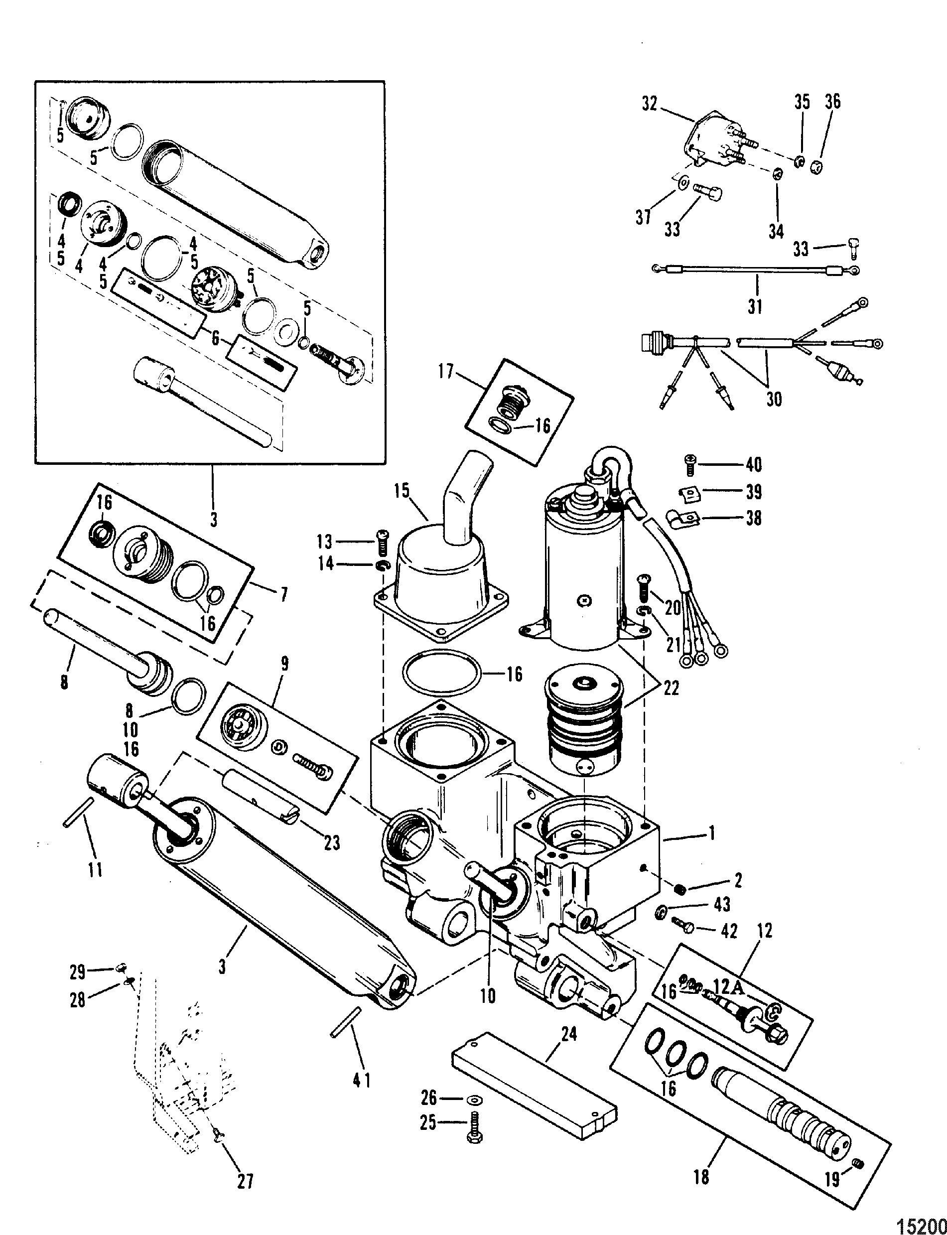 15200 power trim components for mariner mercury 70 75 80 90 hp 3 cylinder 85 Mercury Outboard Wiring Diagram at gsmportal.co