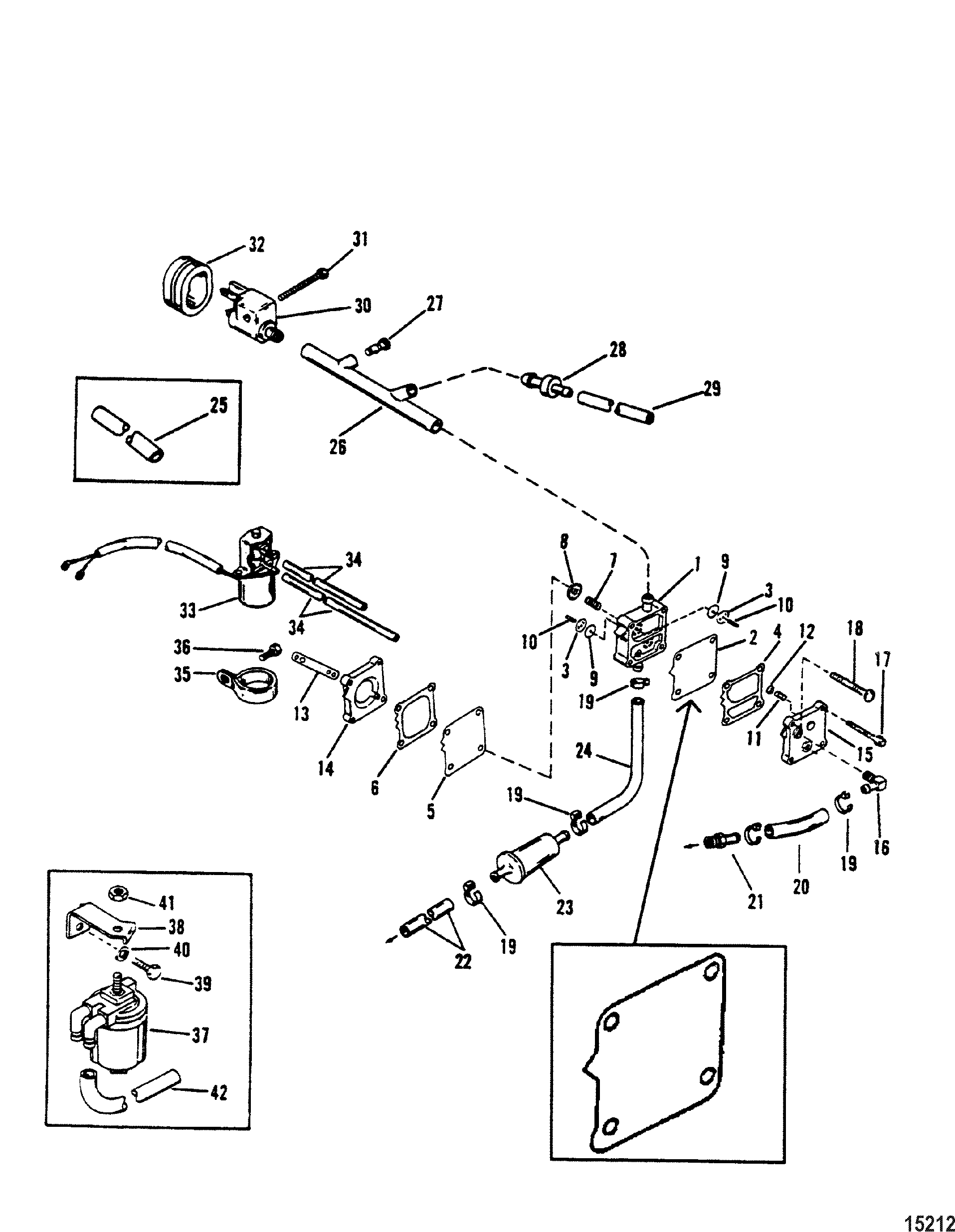 Fuel Pump Use With Inline Check Valve For Mariner Mercury 75 90 Hp Tohatsu Outboard Wiring Diagram Pumpuse 3 Cylinder