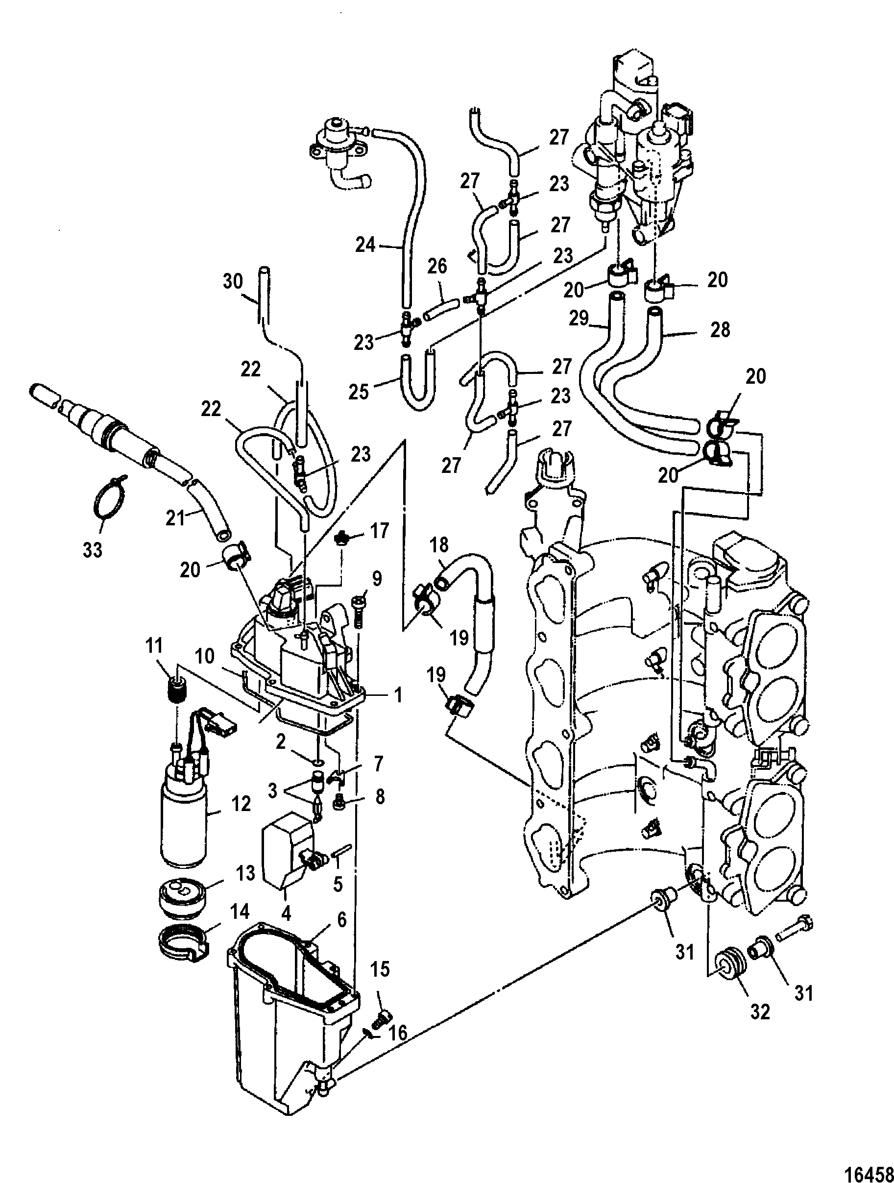115 mercury outboard fuel system diagram