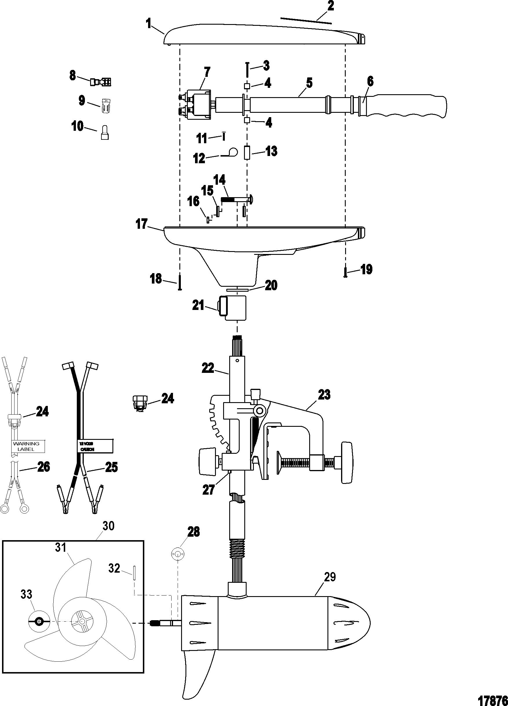 complete trolling motor model t36 12 volt for motorguide