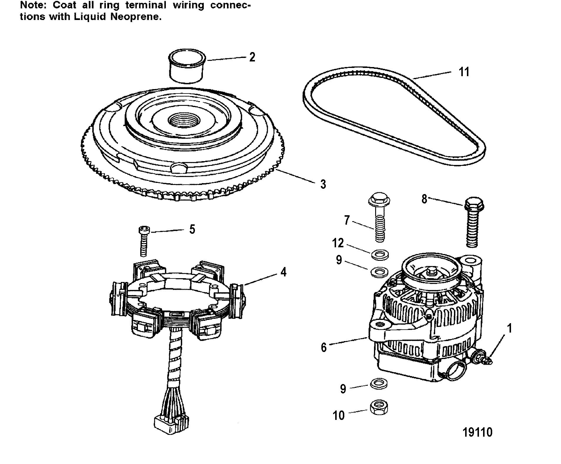 flywheel stator for mariner mercury 225 250 3 0l efi