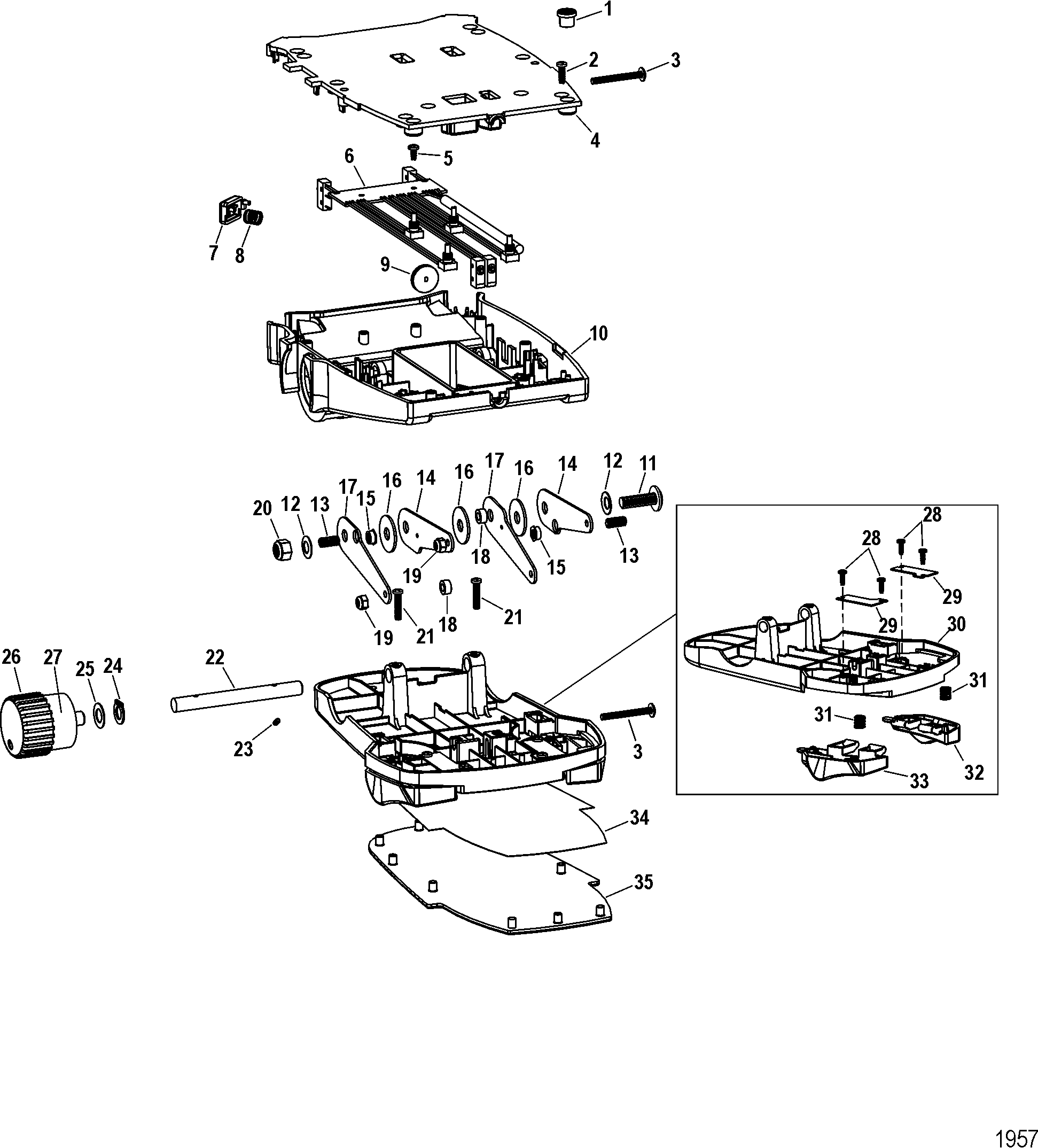 1957 foot pedal assembly m0099101 for motorguide motorguide digital motorguide xi5 wiring diagram at fashall.co