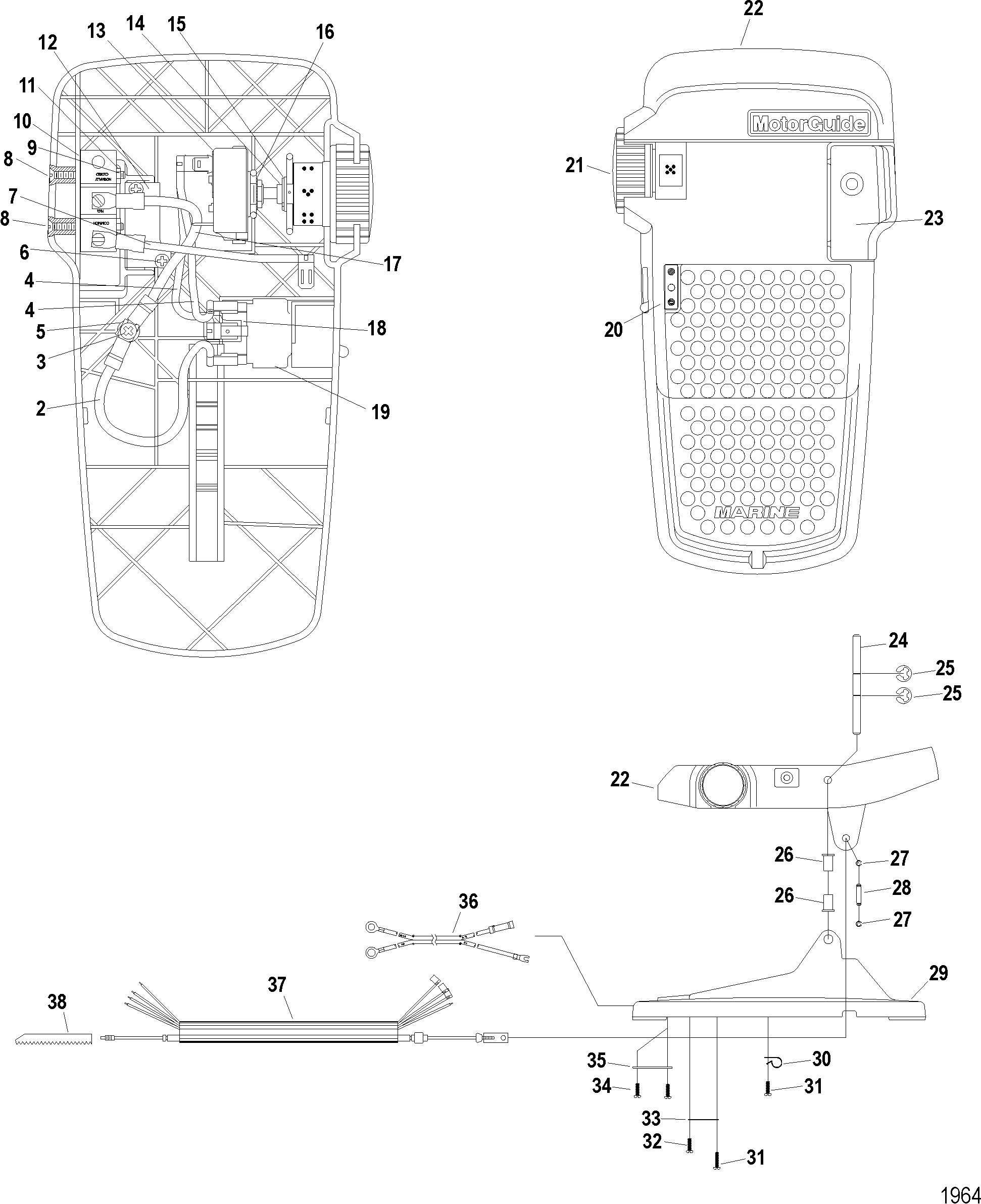 diagram of motorguide great white series trolling motor 12