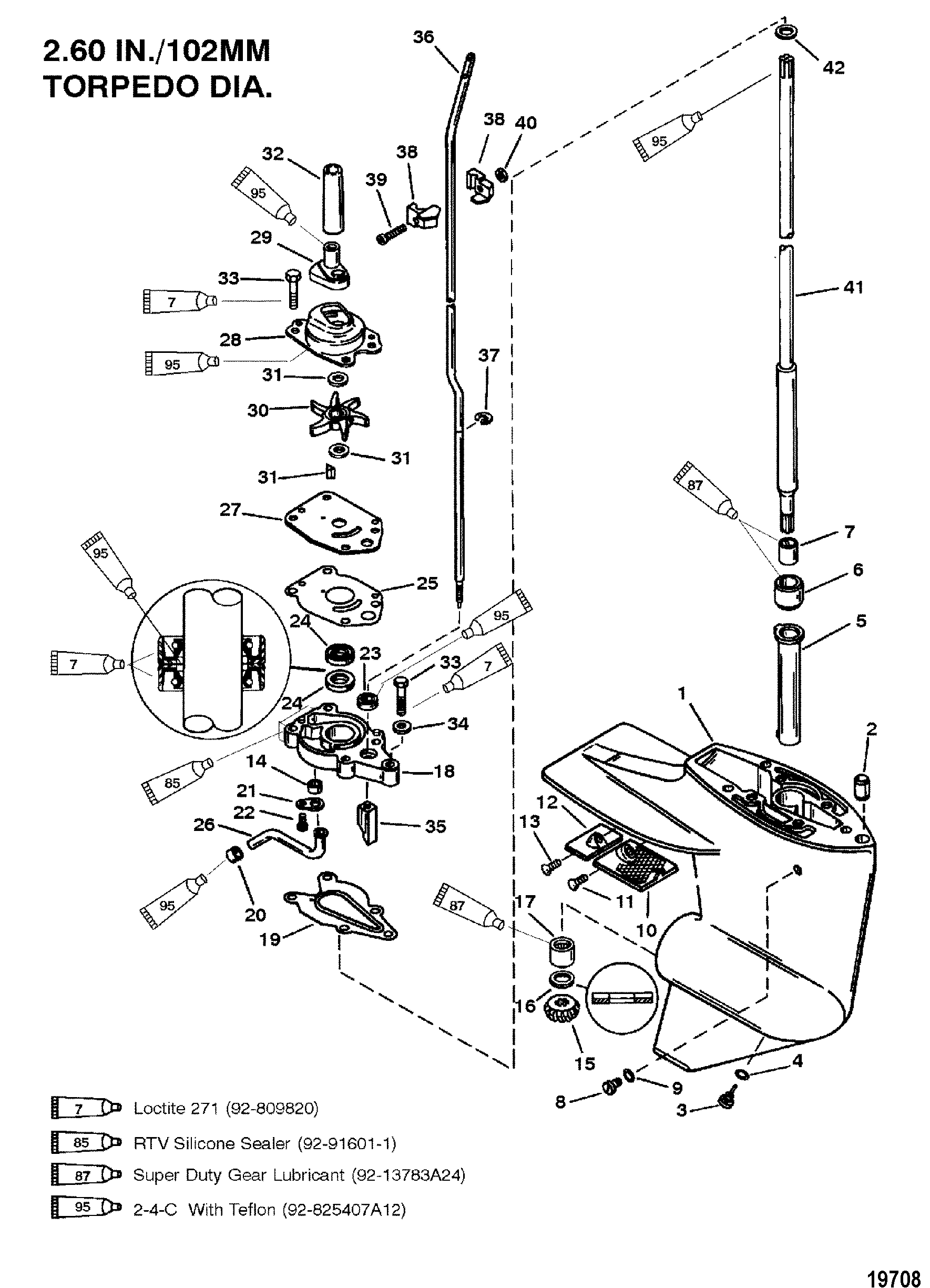 diagram of p.8 mercury motor gear housing driveshaft 2 00 1 gear ratio for mariner  gear housing driveshaft 2 00 1 gear ratio for mariner