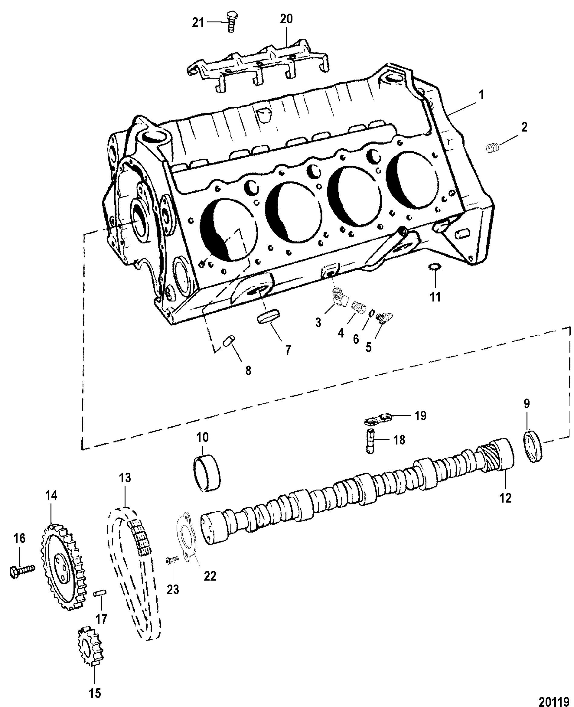 cylinder block and camshaft for mercruiser 454 502 mpi mag bravo gen vi Marine Engine Wiring Diagram cylinder block and camshaft for mercruiser 454 502 mpi mag bravo (gen vi)