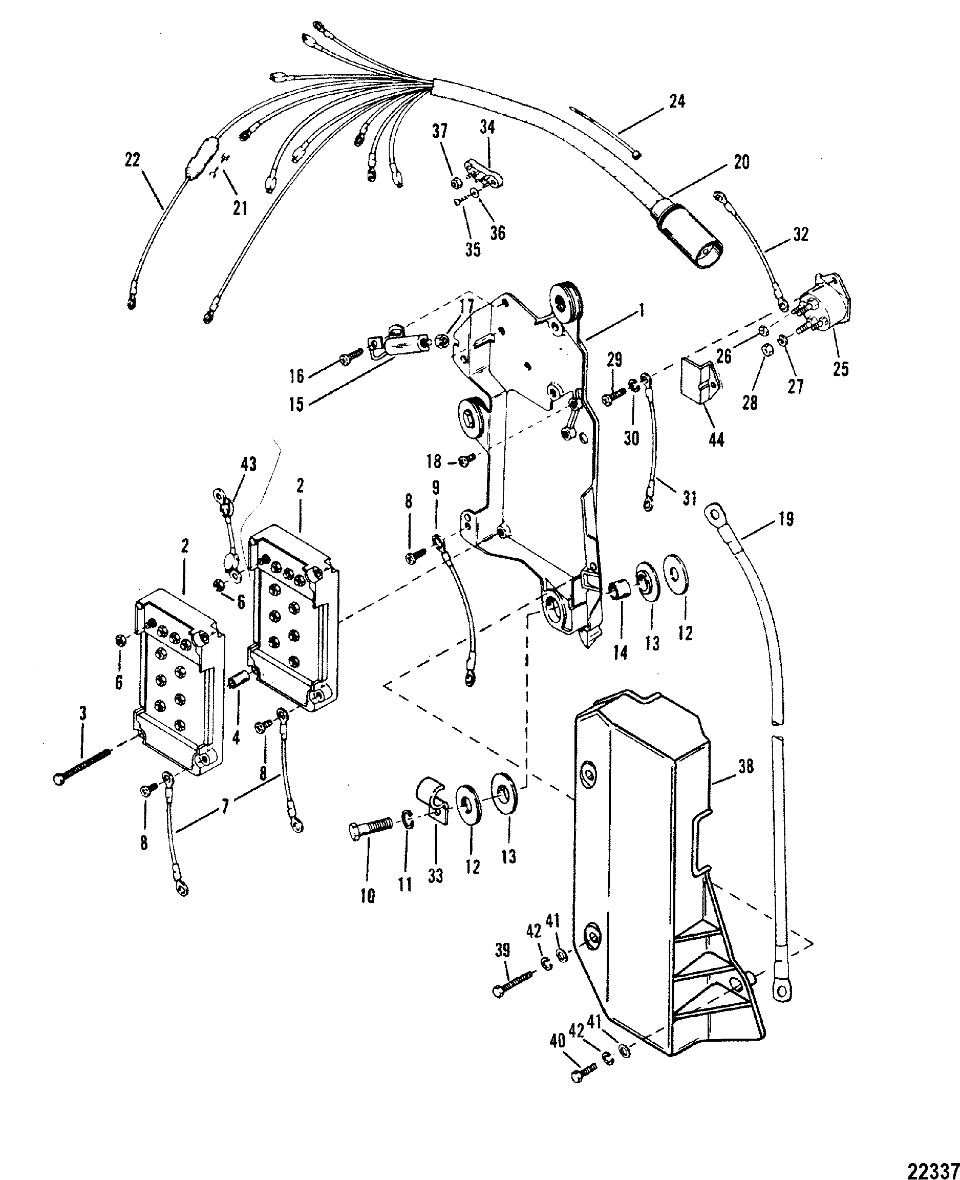Wiring Harness Starter Solenoid For Mariner Mercury 175 Xri Mercruiser Trim Sensor Diagram Zoom
