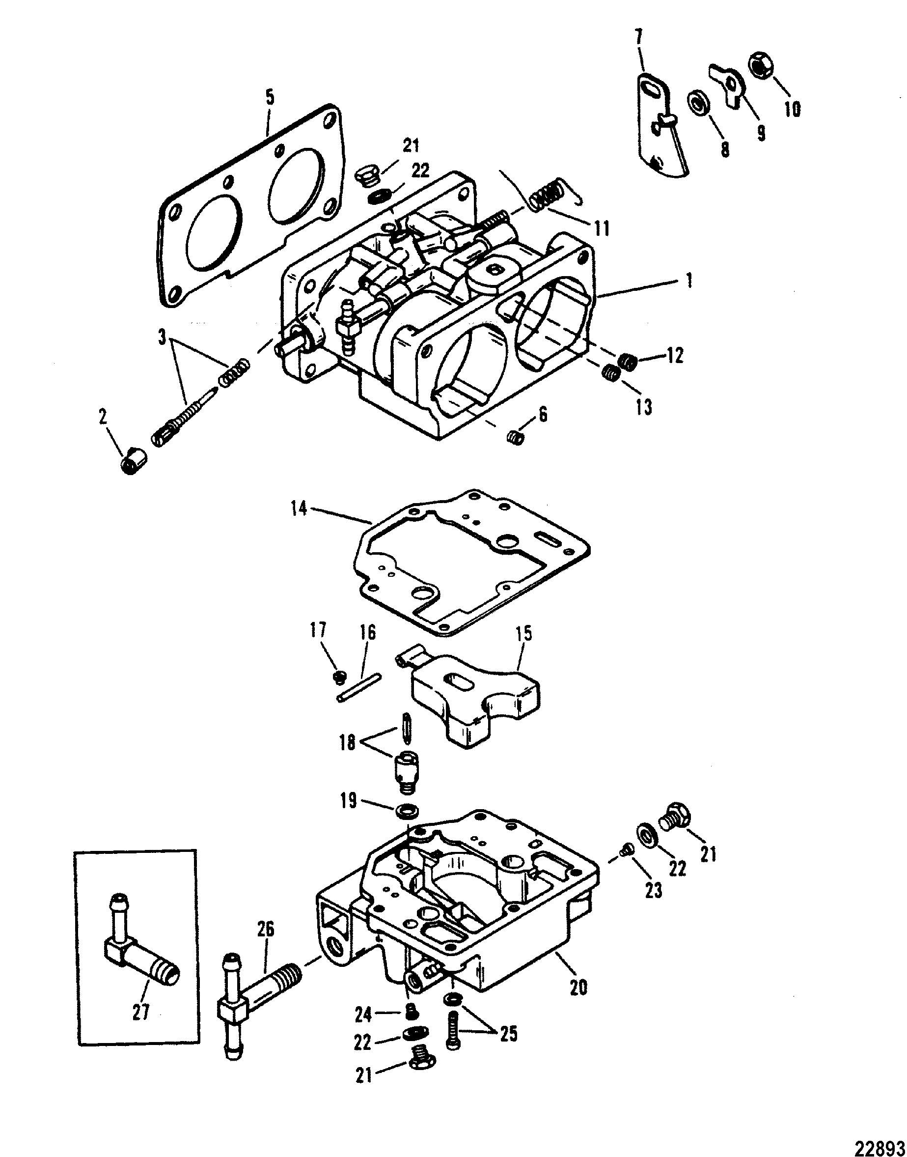 carburetor wmh 31  32  33  34 for mariner    mercury 135