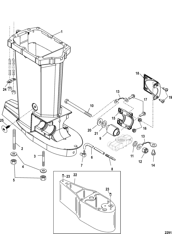 Driveshaft Housing FOR MARINER / MERCURY 115/125 HP JET 80 (4  CYLINDER)(2-STROKE)
