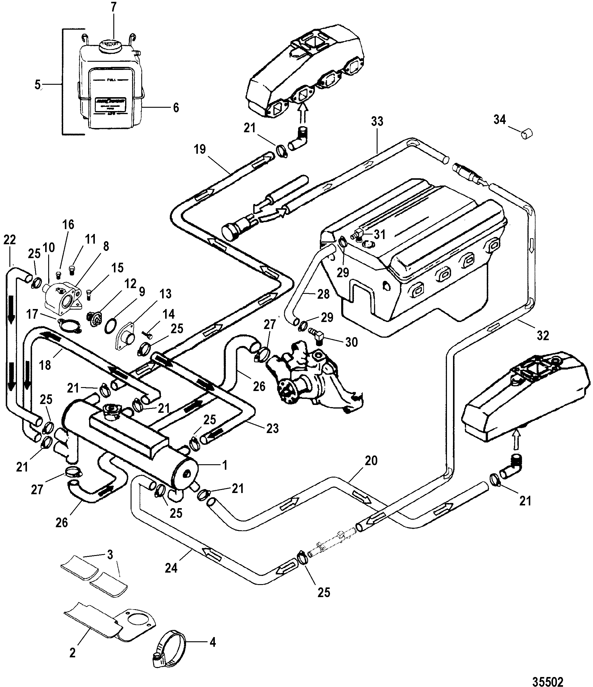 Mercruiser 5 7 Exhaust Diagram Electrical Wiring Diagrams Cooling System Library Of U2022