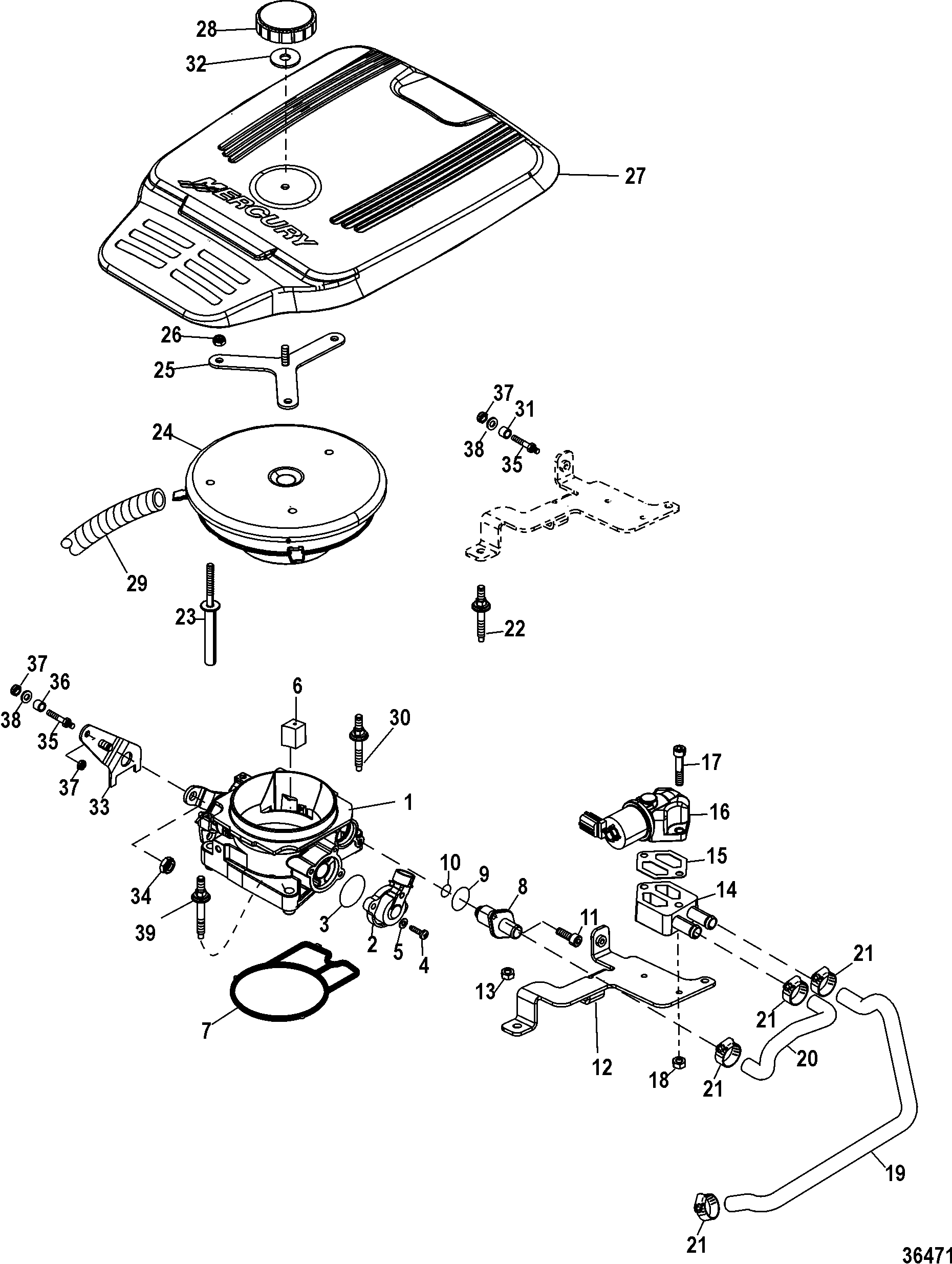 mercruiser fuel system diagram 1995 ford 7 3 fuel system diagram throttle body for mercruiser 4.3l mpi alpha/bravo #14