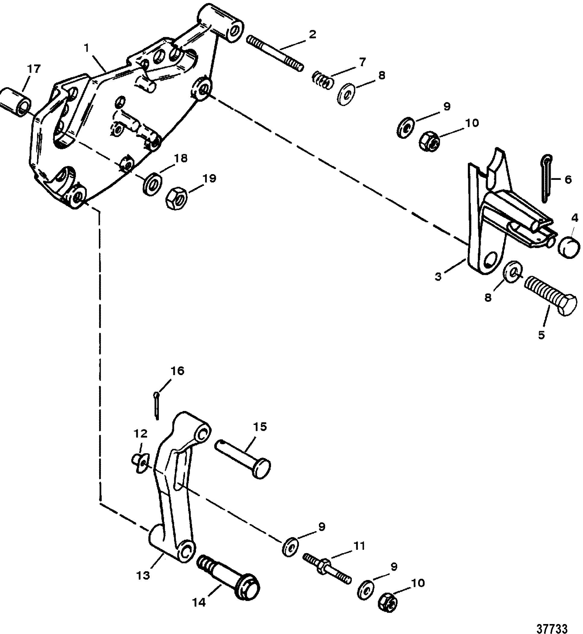 Shift Bracket For Mercruiser 7 4l 454 Mag Bravo Gen V