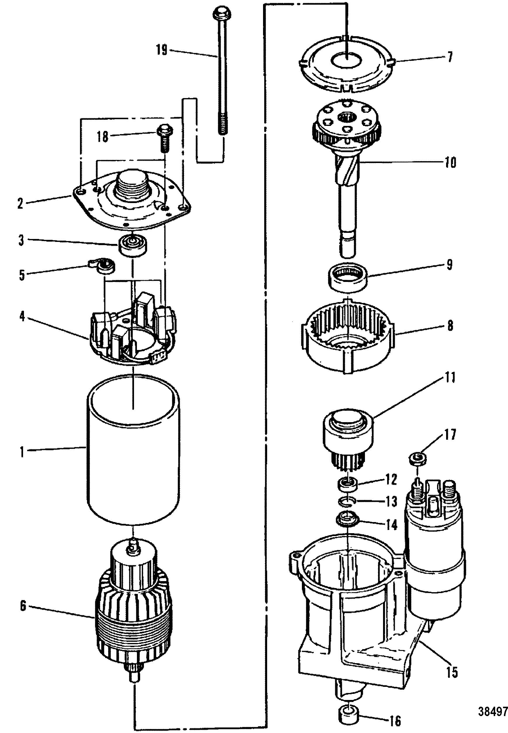 starter motor for mercruiser 4 3l 4 3lx alpha one engine 262 cid