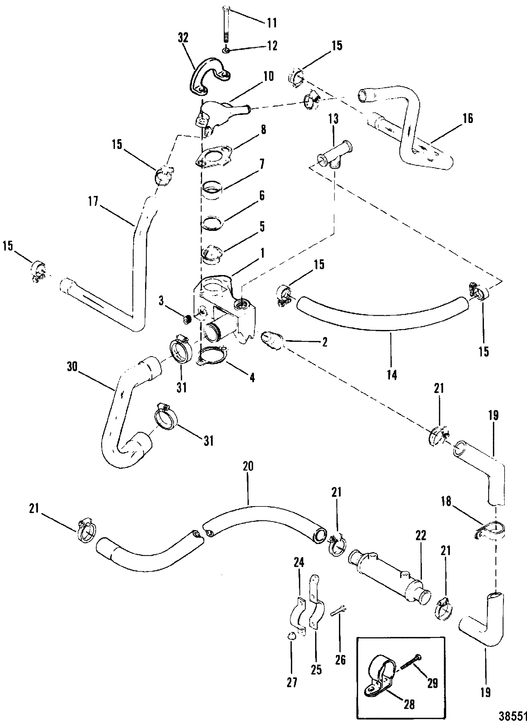 Mercruiser 120 Wiring Diagram Chevy 350 Coolant Flow Engine 260 Harness Schematics Diagrams On