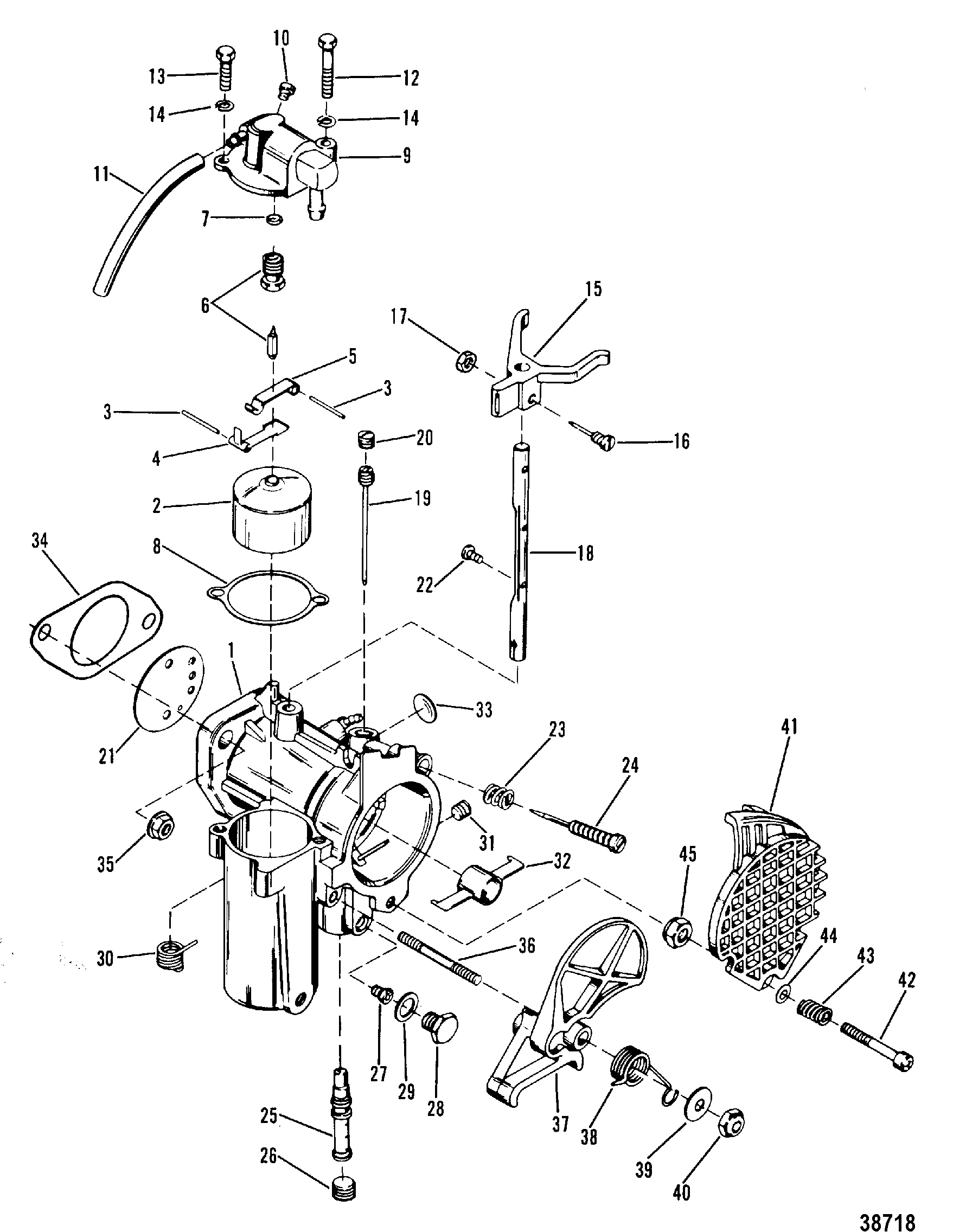 carburetor assembly for mercury 35 hp