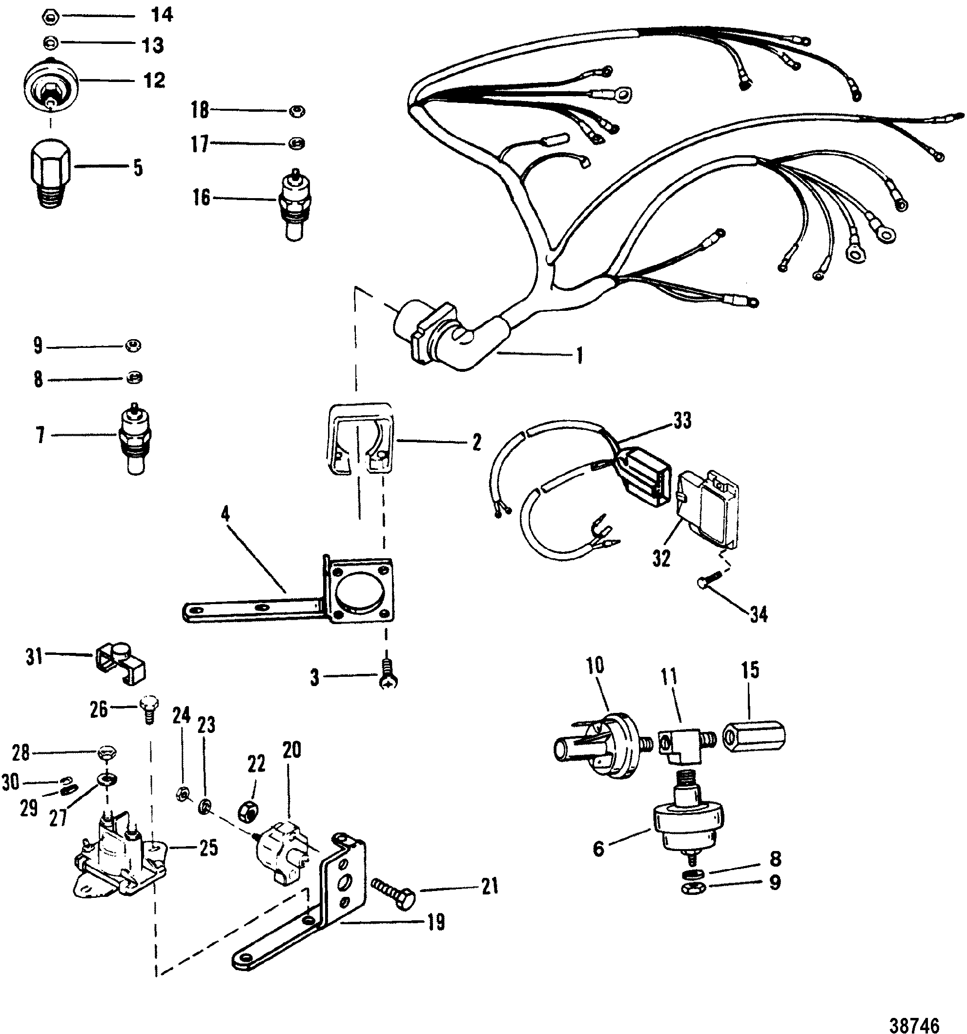 Mercruiser Boat Wiring Harness 30 Diagram Images Diagrams 38746 And Electrical Components For 4 3l 3lx