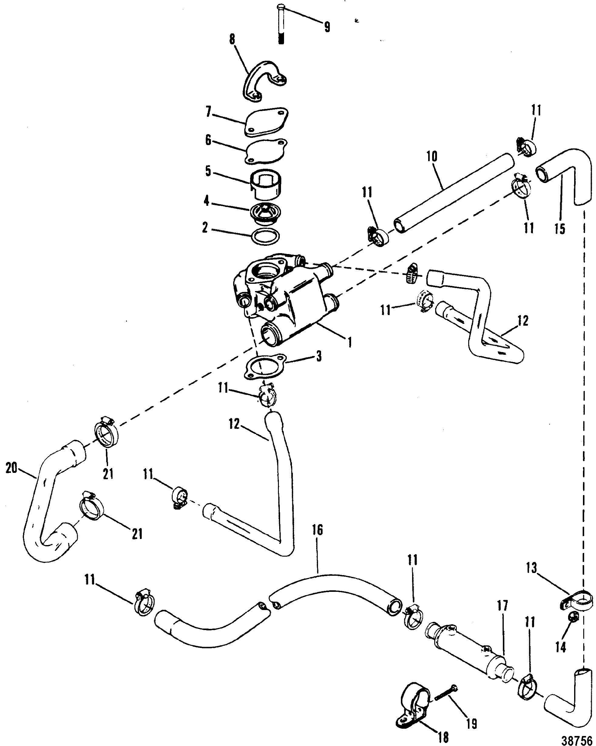 standard cooling system design i for mercruiser 4 3l 4 3lx alpha one mercruiser 4.3 lx wiring diagram standard cooling system(design i) for mercruiser 4 3l 4 3lx alpha one engine (262 cid) gen ii
