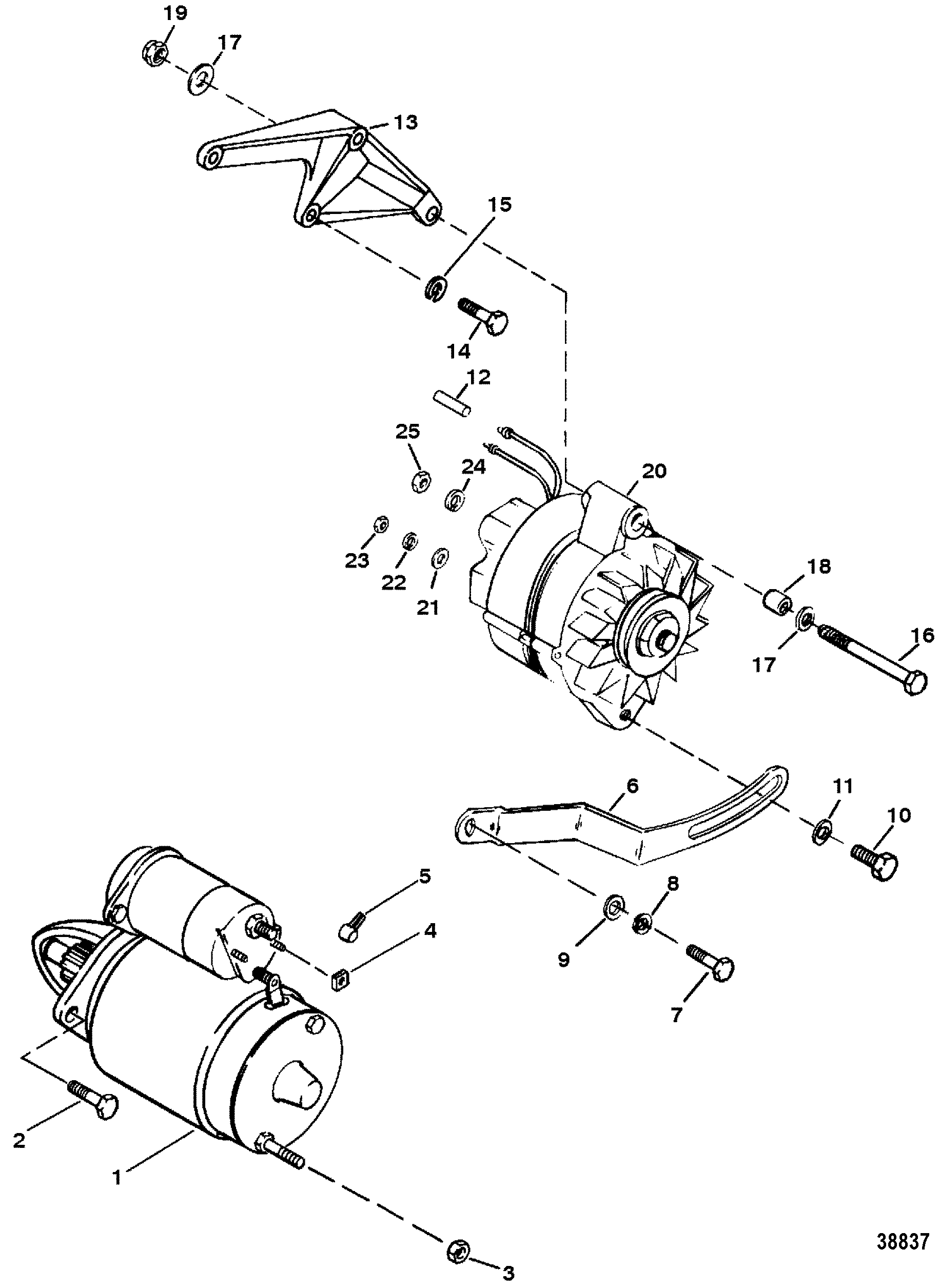 Marine 454 Starter Alternator Wiring Diagram Libraries Mercruiser And For 7 4l Mag Bravo Gen V