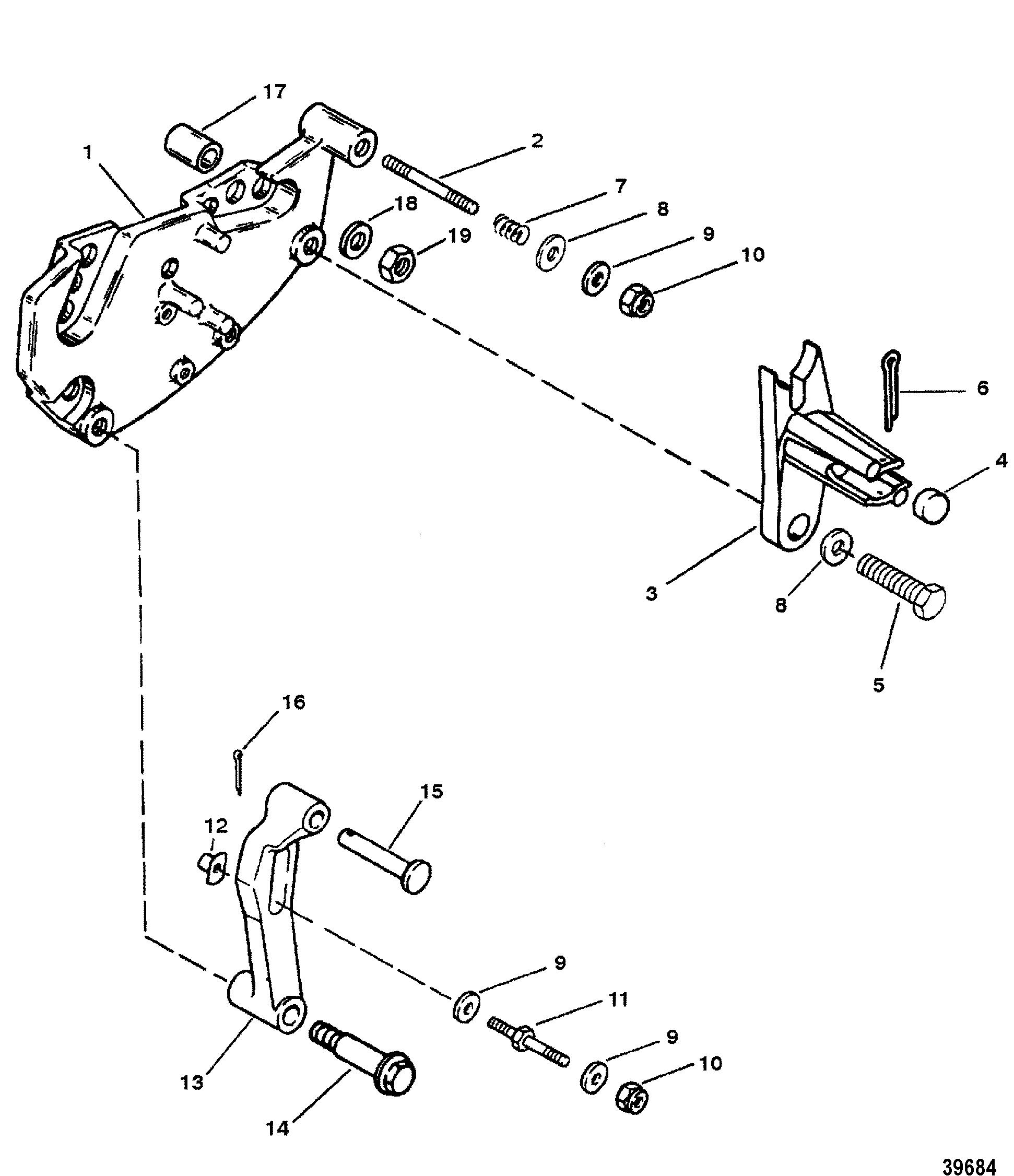 shift bracket for mercruiser 454  u0026 502 mag efi