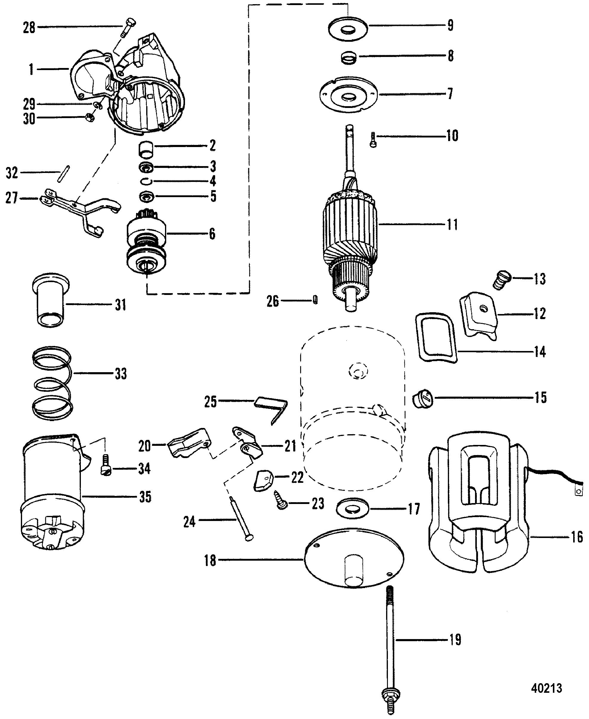 starter motor assembly for mercruiser 470 engine
