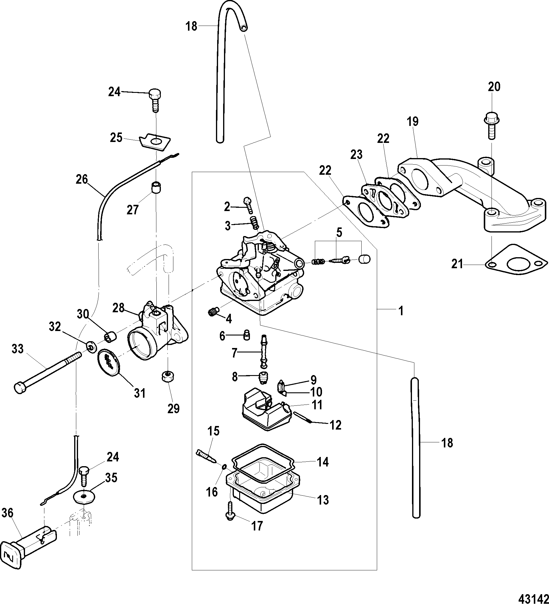 Diagram Of 2006 Mercury Marine Mercury Outboard 1f03201hk Gear