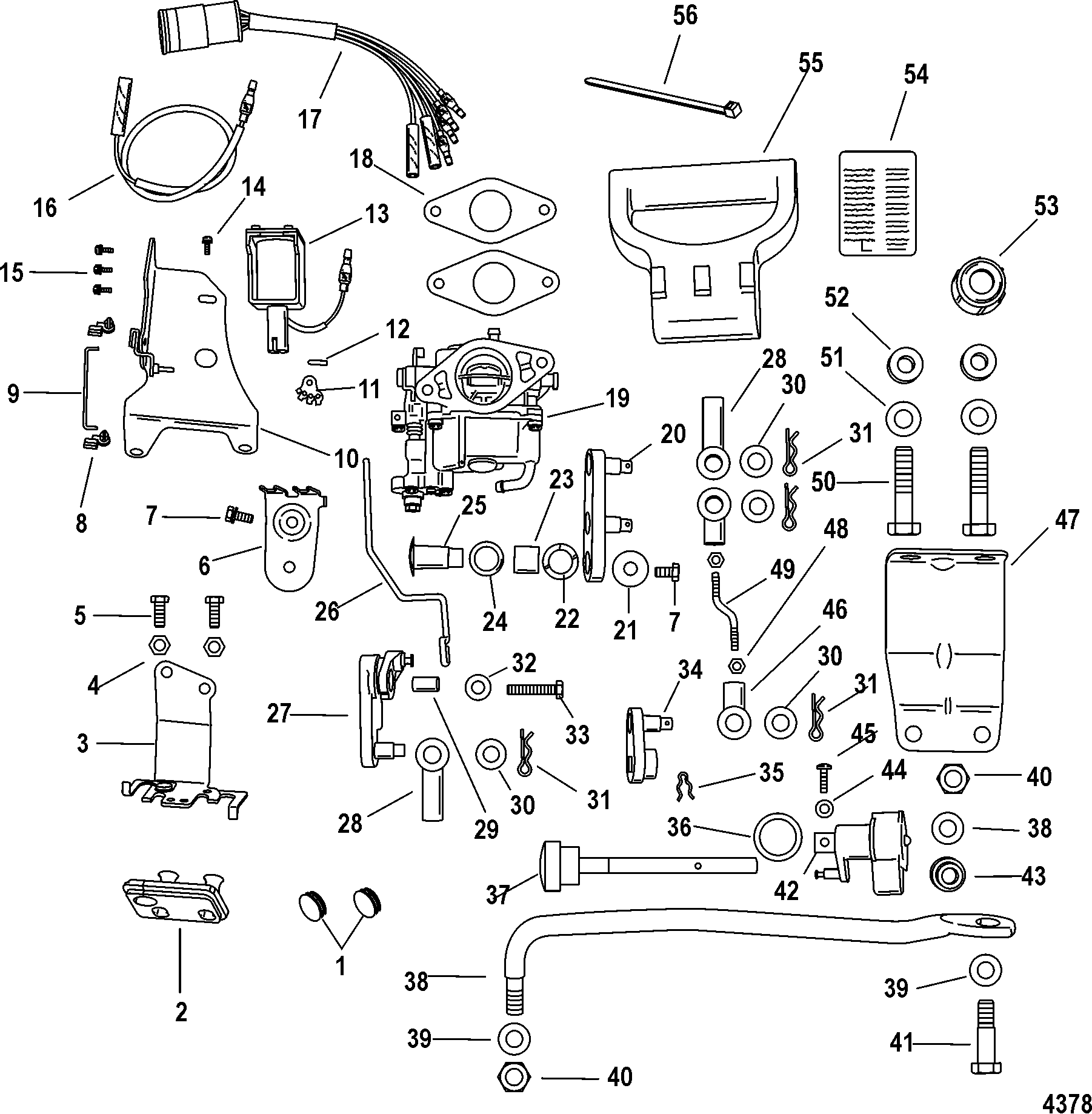 4378 conversion kit, 895284a01 for mariner mercury 8 9 9 209cc 4 stroke mercury 9.9 4 stroke wiring diagram at panicattacktreatment.co