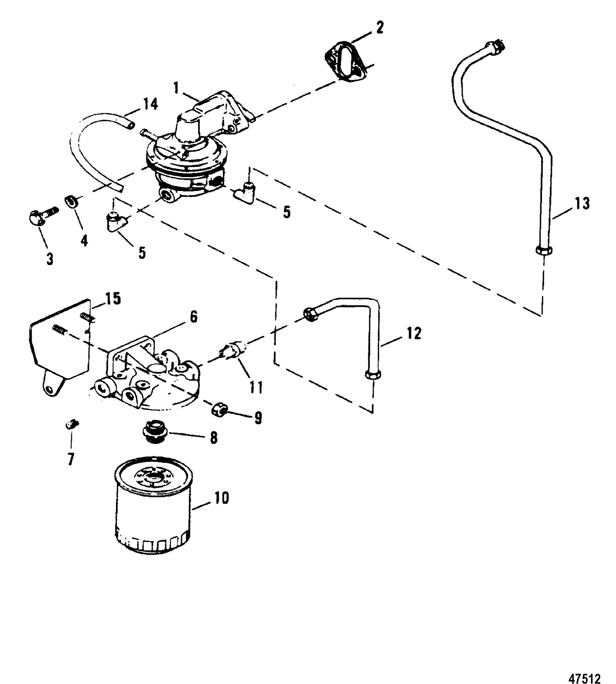 fuel pump and fuel filter for mercruiser 502 magnum bravo