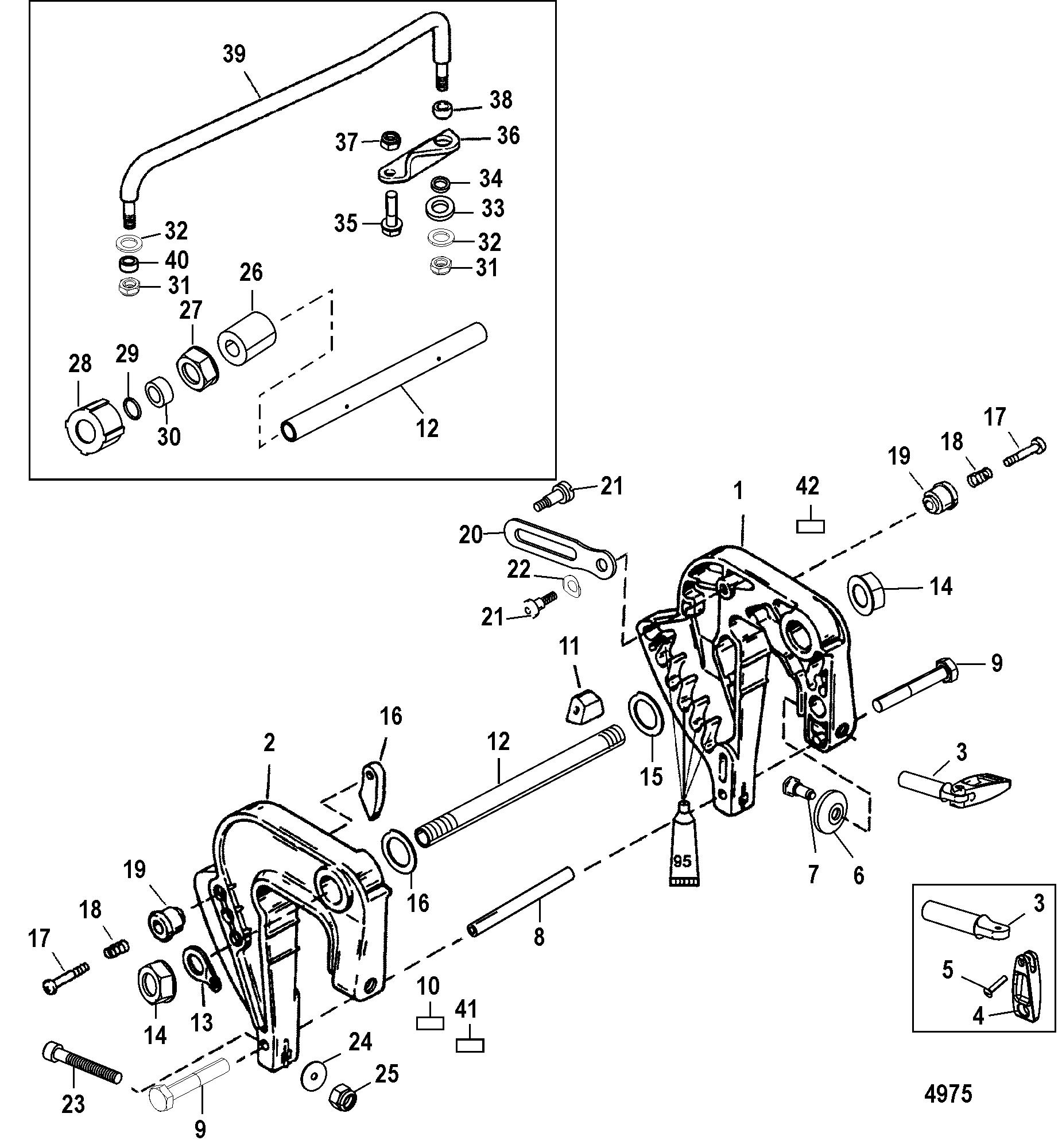 mercruiser transom parts diagram