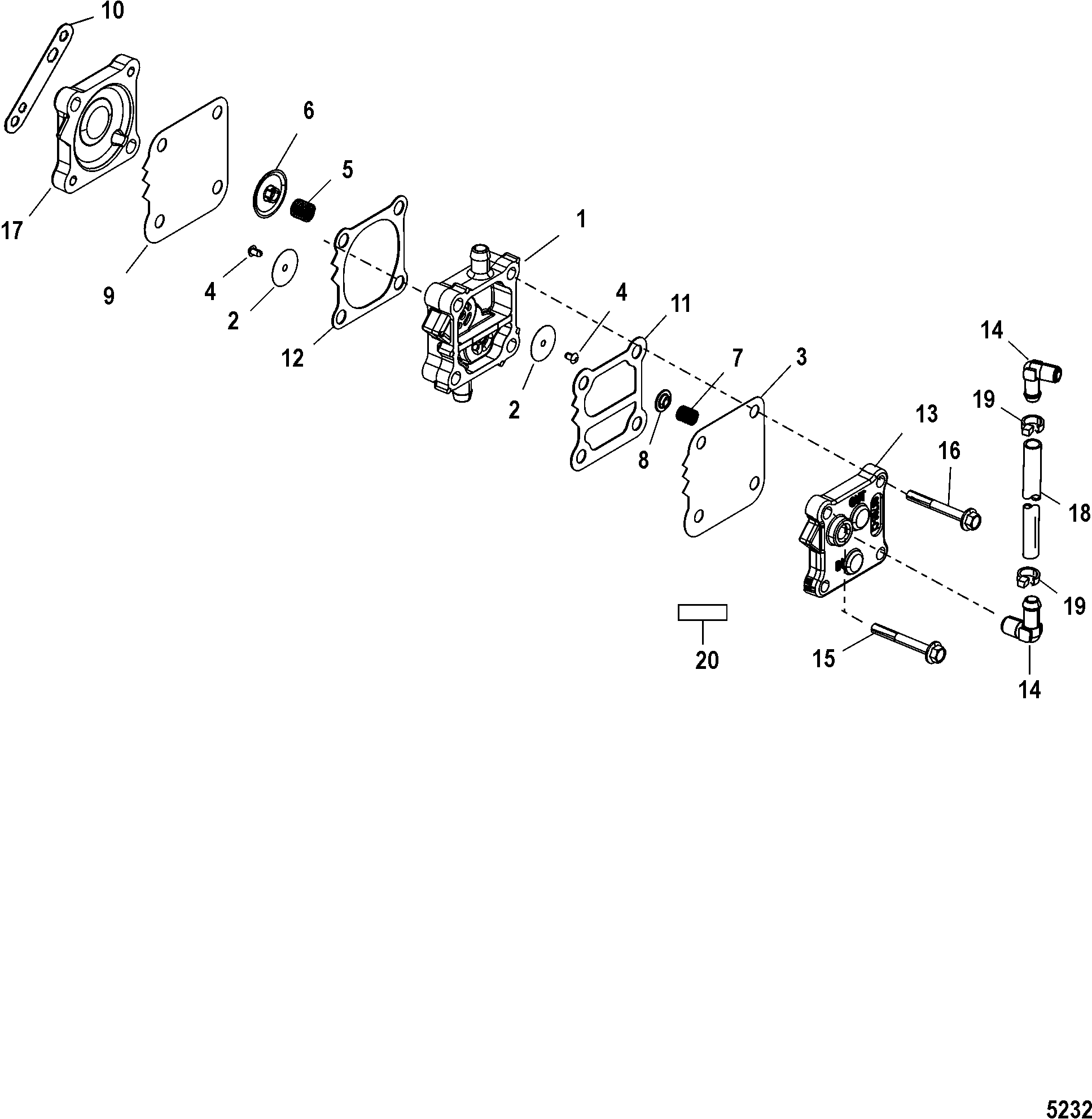 fuel pump for mariner / mercury 135/140/150/200/xr6/magnum ... mercury 150 xr6 wiring diagram #14