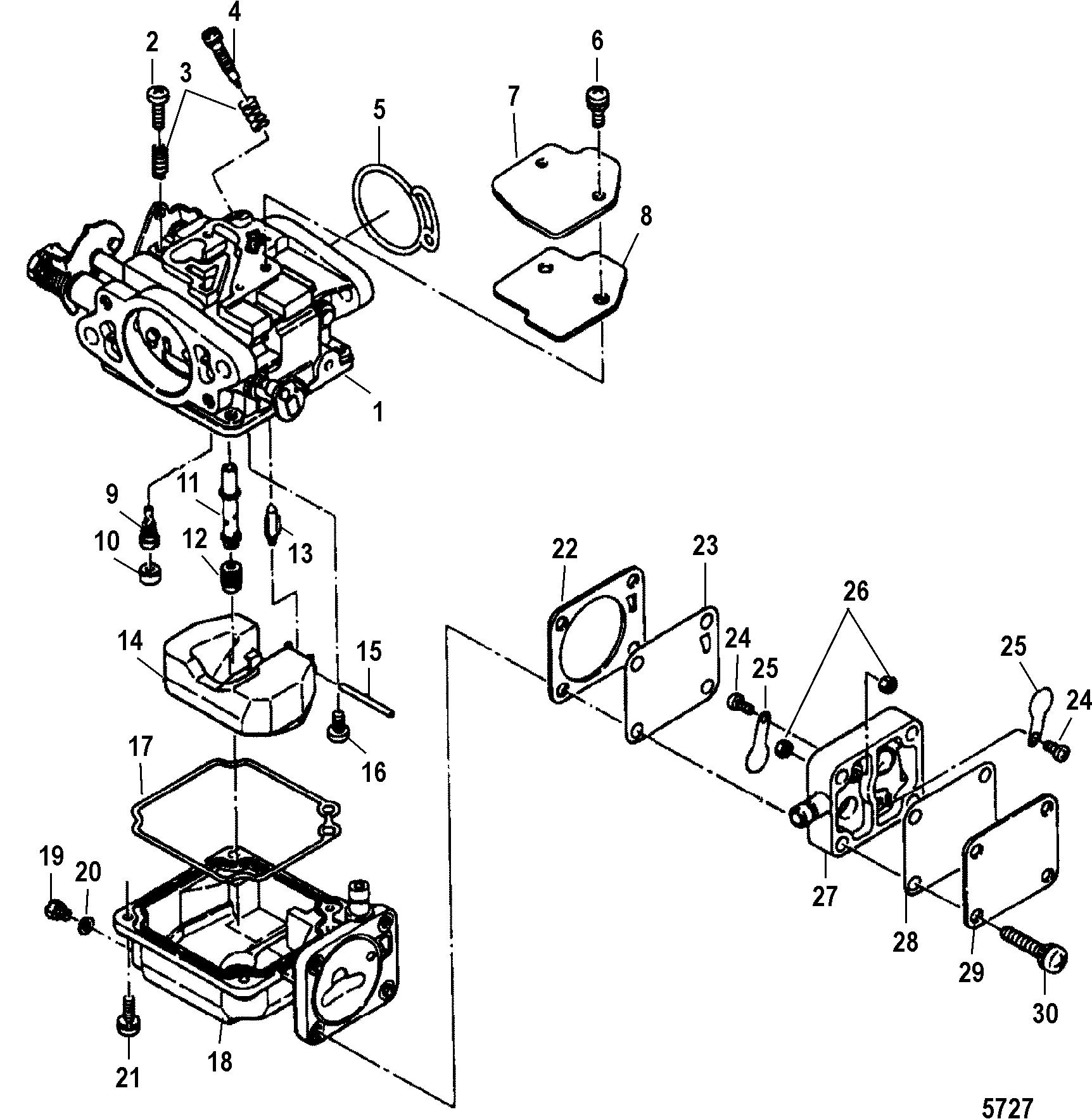 Carburetor For Mariner Mercury 15 18 Hp 2 Cylinder International Wiring Diagram