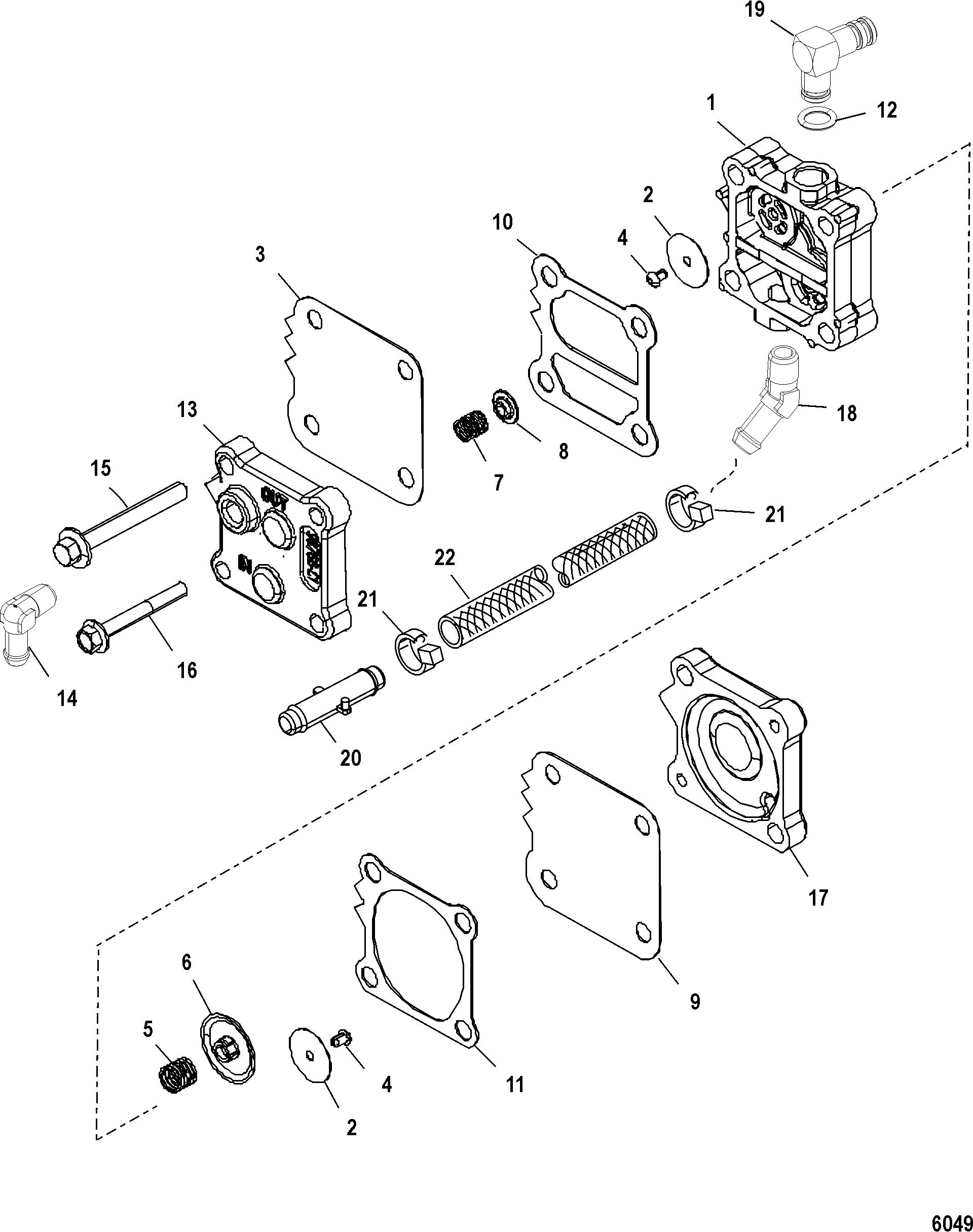 fuel pump for mercury 250 pro xs 3 0l