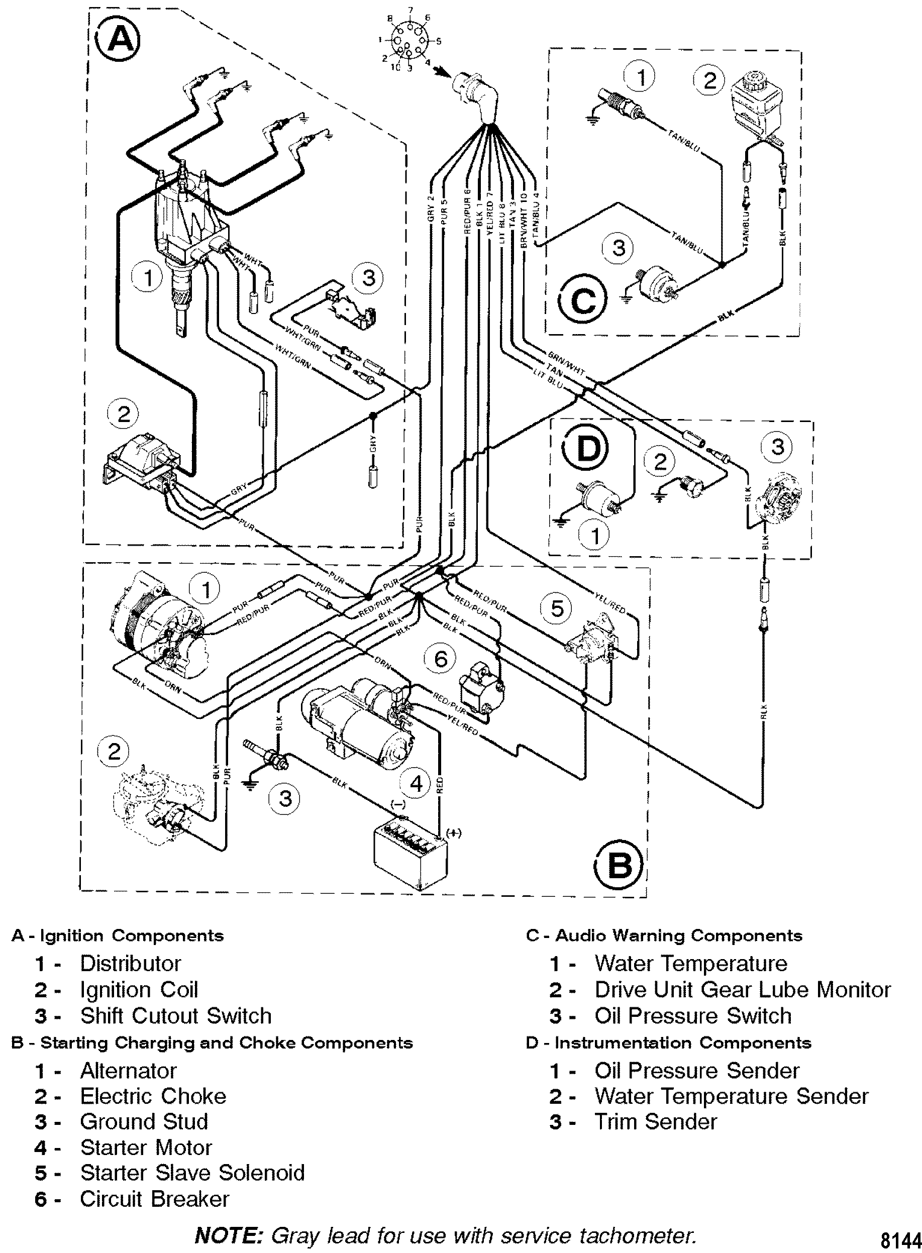 8144 wiring harness for mercruiser 3 0l alpha one Mercruiser 3.0 Firing Order Diagram at couponss.co