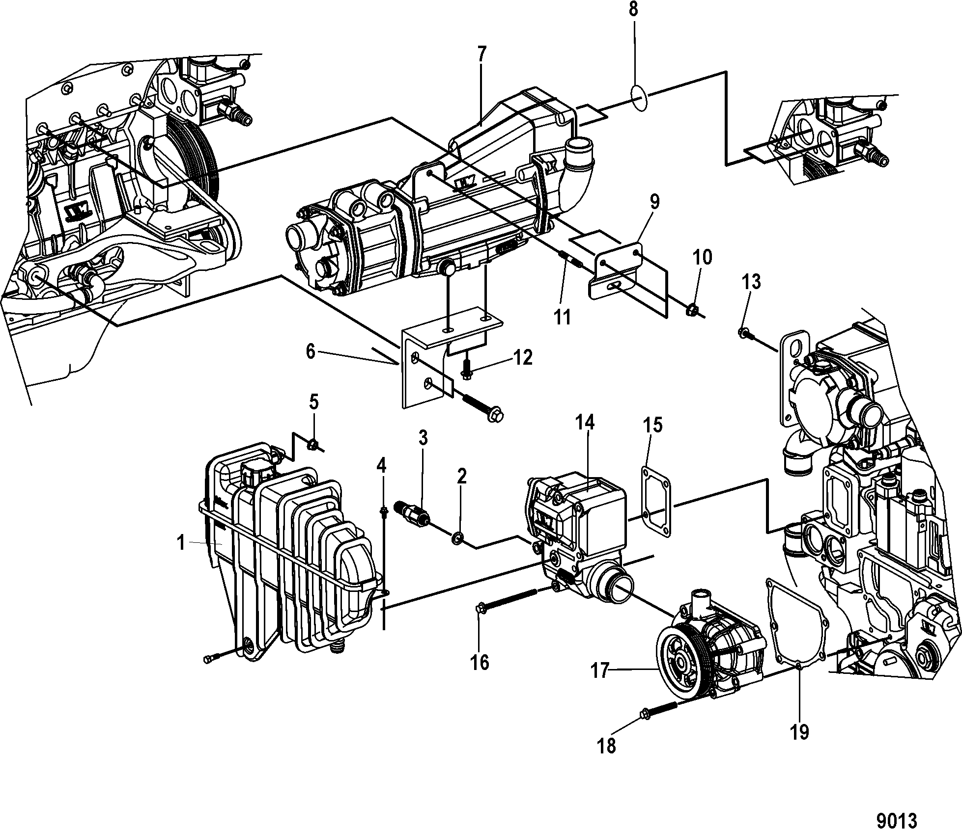 Cooling System ponents FOR MERCRUISER MIE CUMMINS MERCRUISER