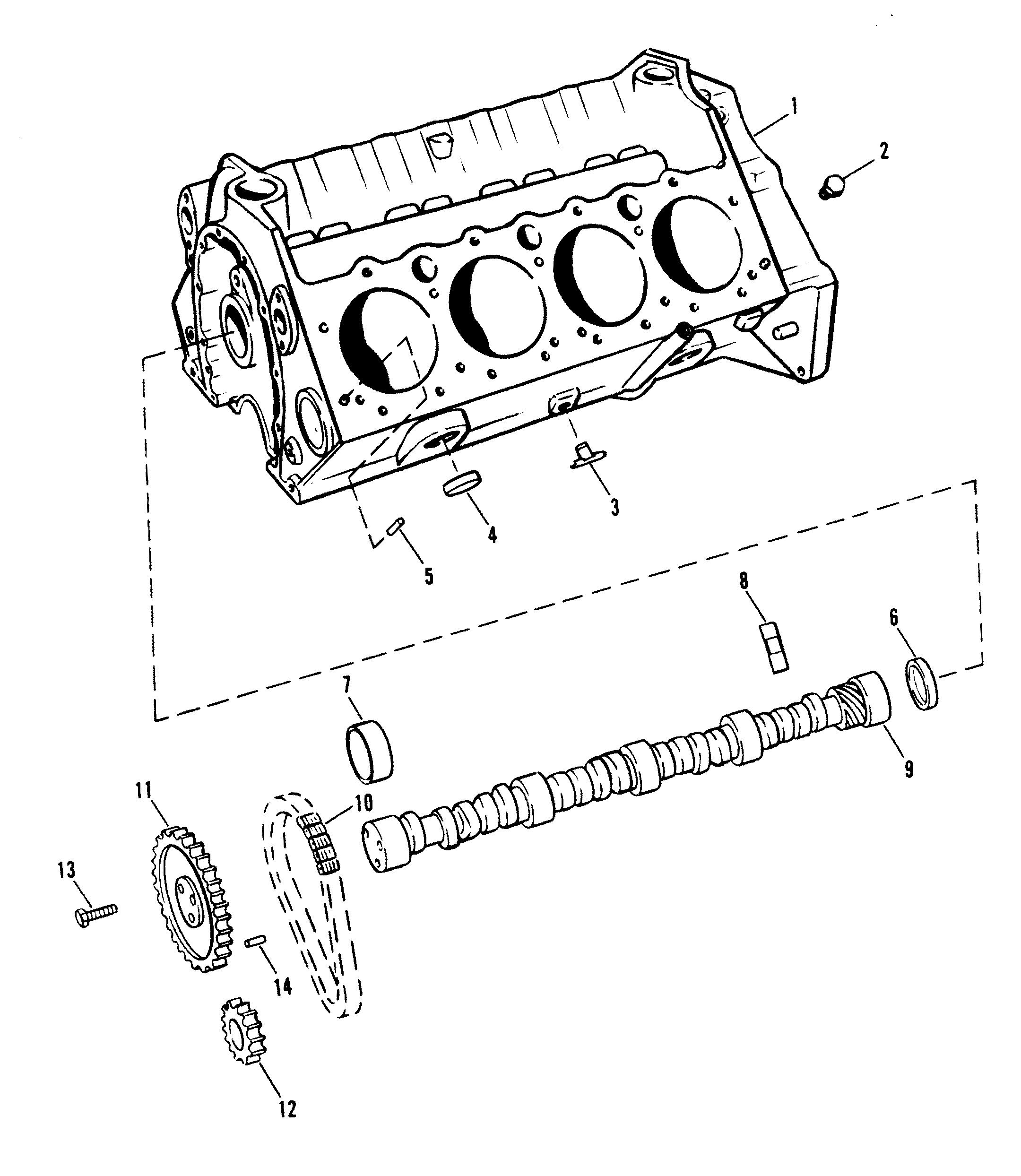 cylinder block and camshaft for mercruiser 454 magnum