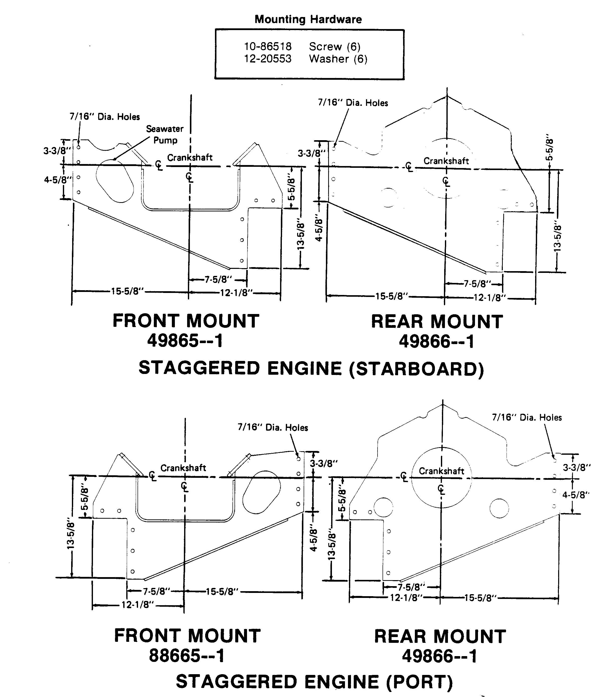 Wiring Diagram Database  Mercruiser Rear Engine Mount Diagram