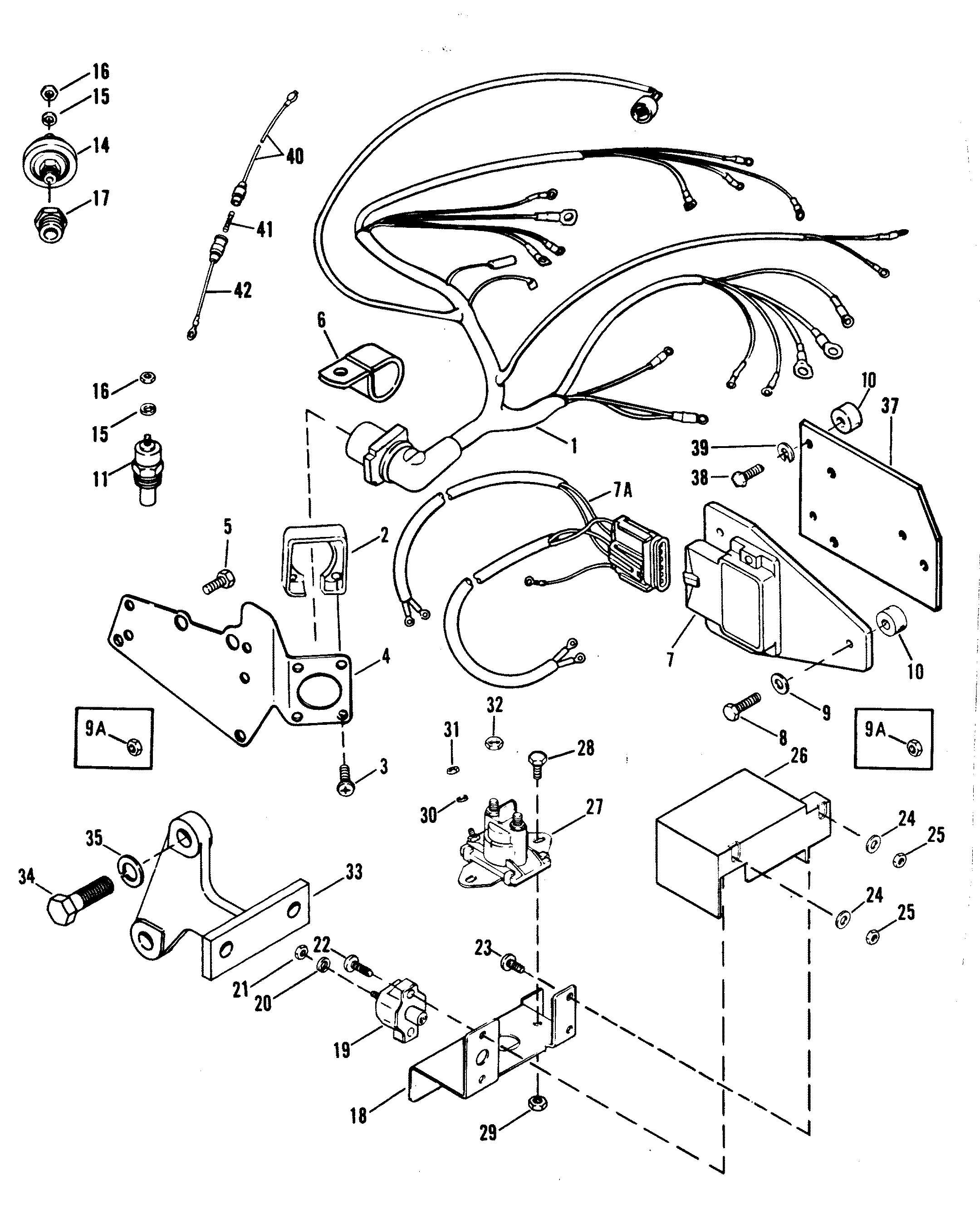 mercruiser wireing harness   26 wiring diagram images