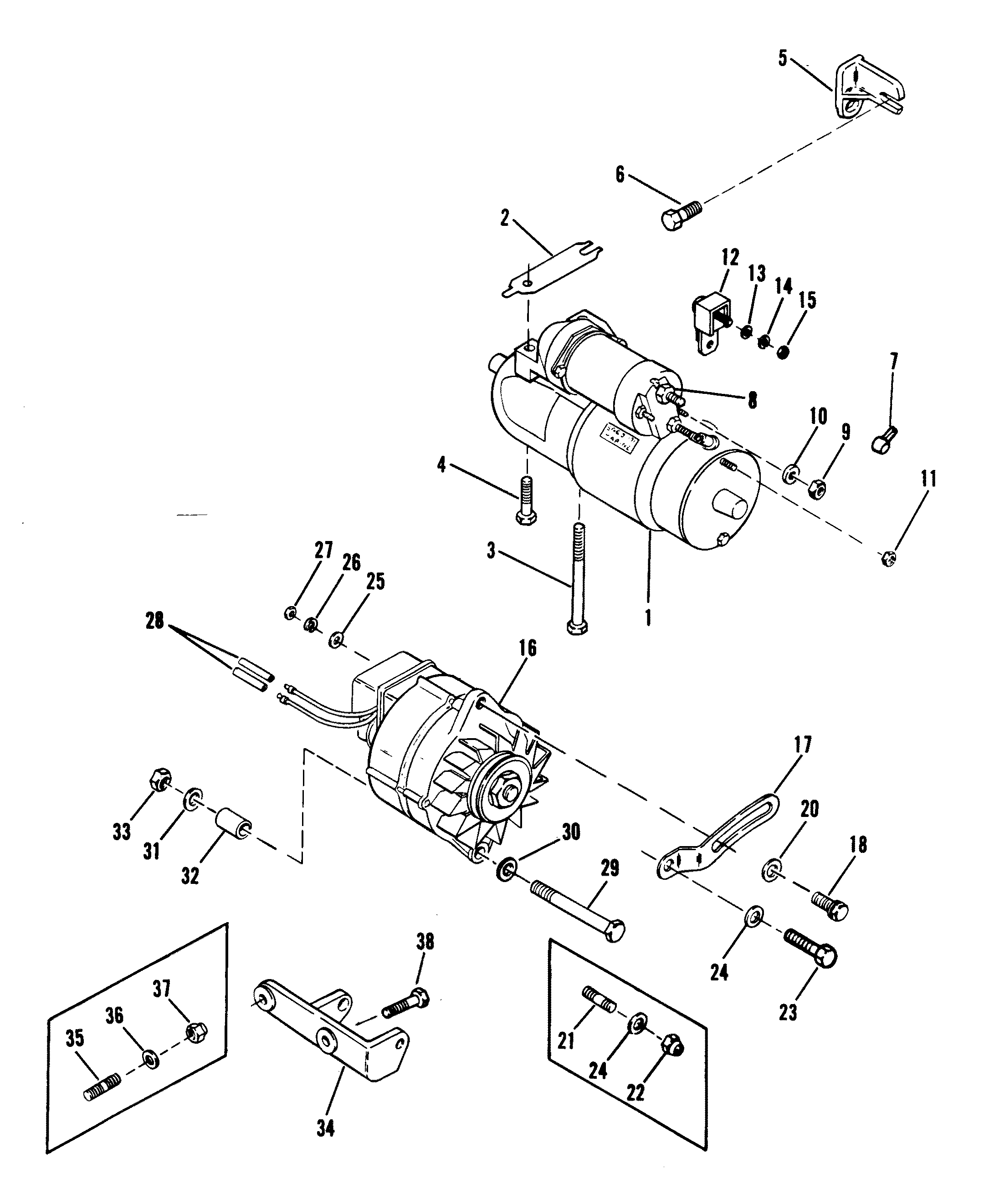 Mercruiser 3 0 Starter Wiring Diagram 43 Engine 120 Sierra 30 On