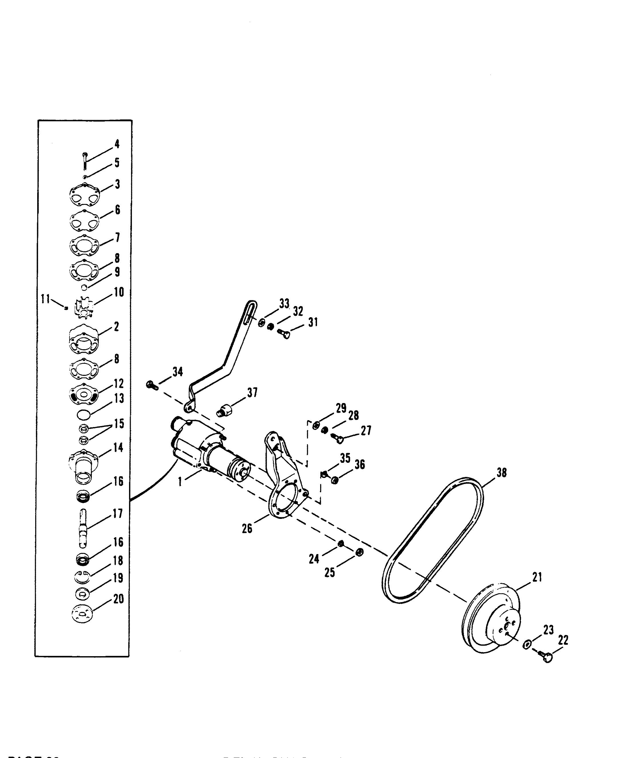 sea water pump assembly for mercruiser 5 7l alpha efi