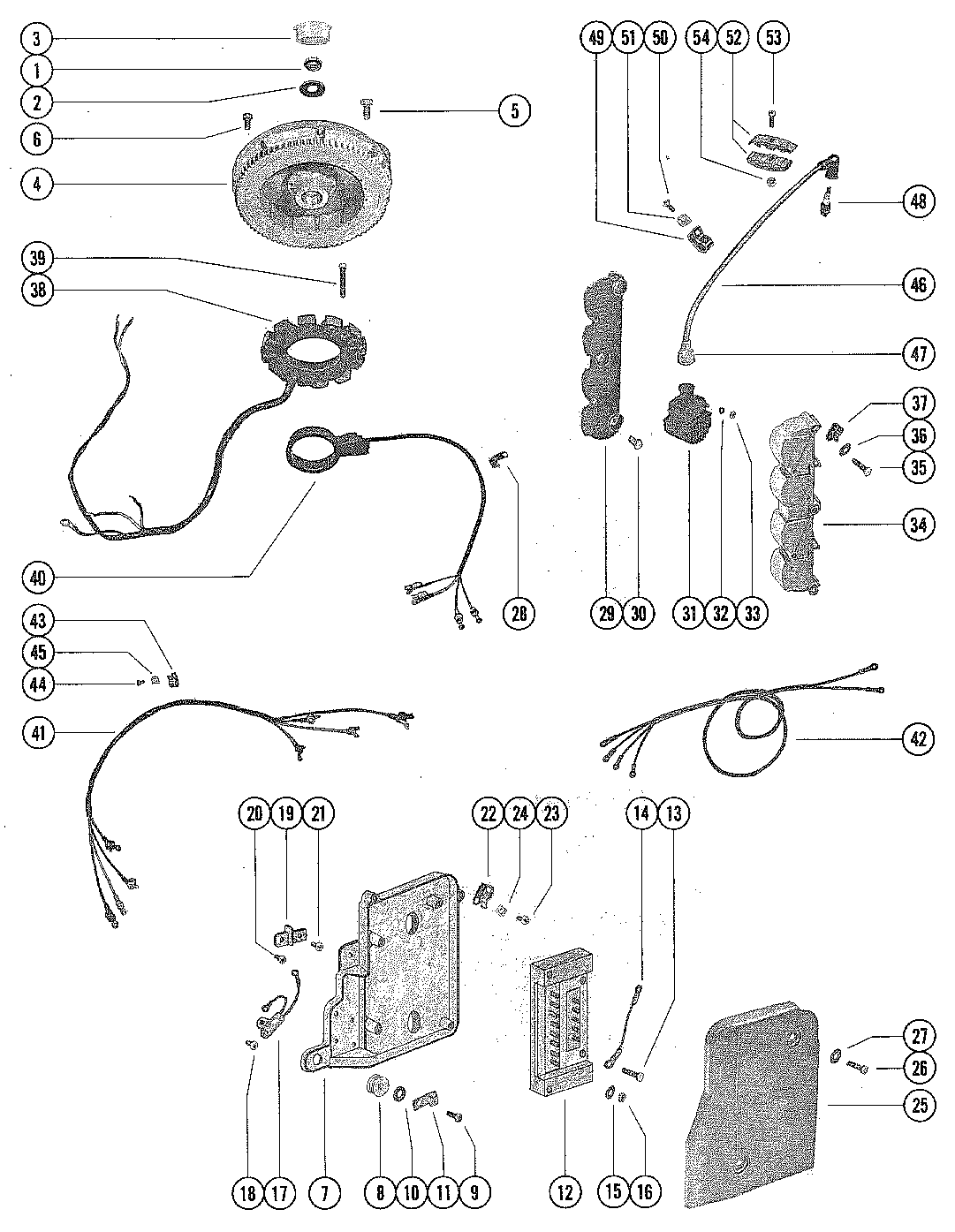 flywheel, stator and ignition coil for mariner / mercury ... 1977 mercury 500 wiring diagram polaris ranger 500 wiring diagram 2006