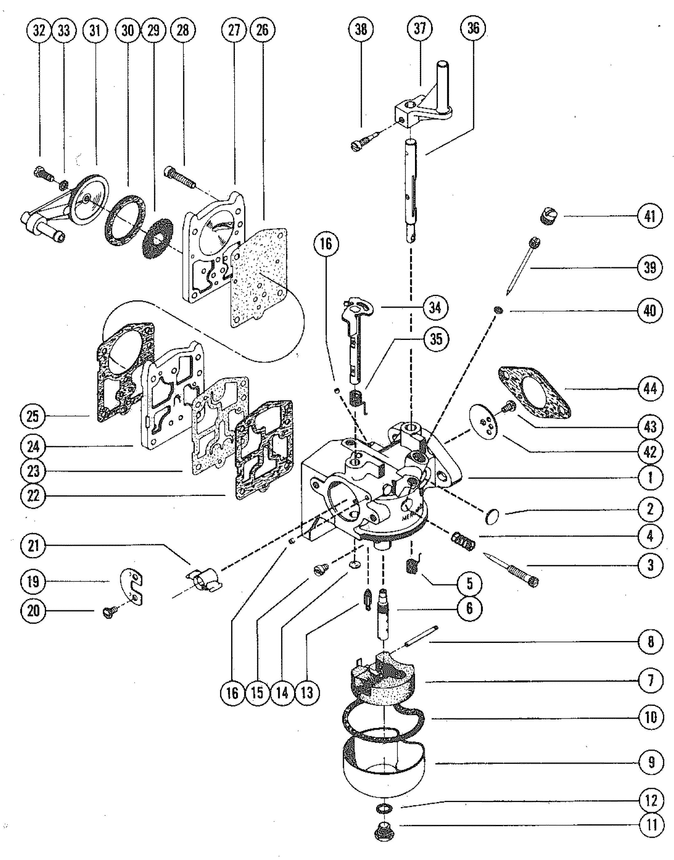 Mercury 110 Wiring Diagram Diy Diagrams Outlet Carburetor Assembly Complete For Merc Rh Jamestowndistributors Com John Deere