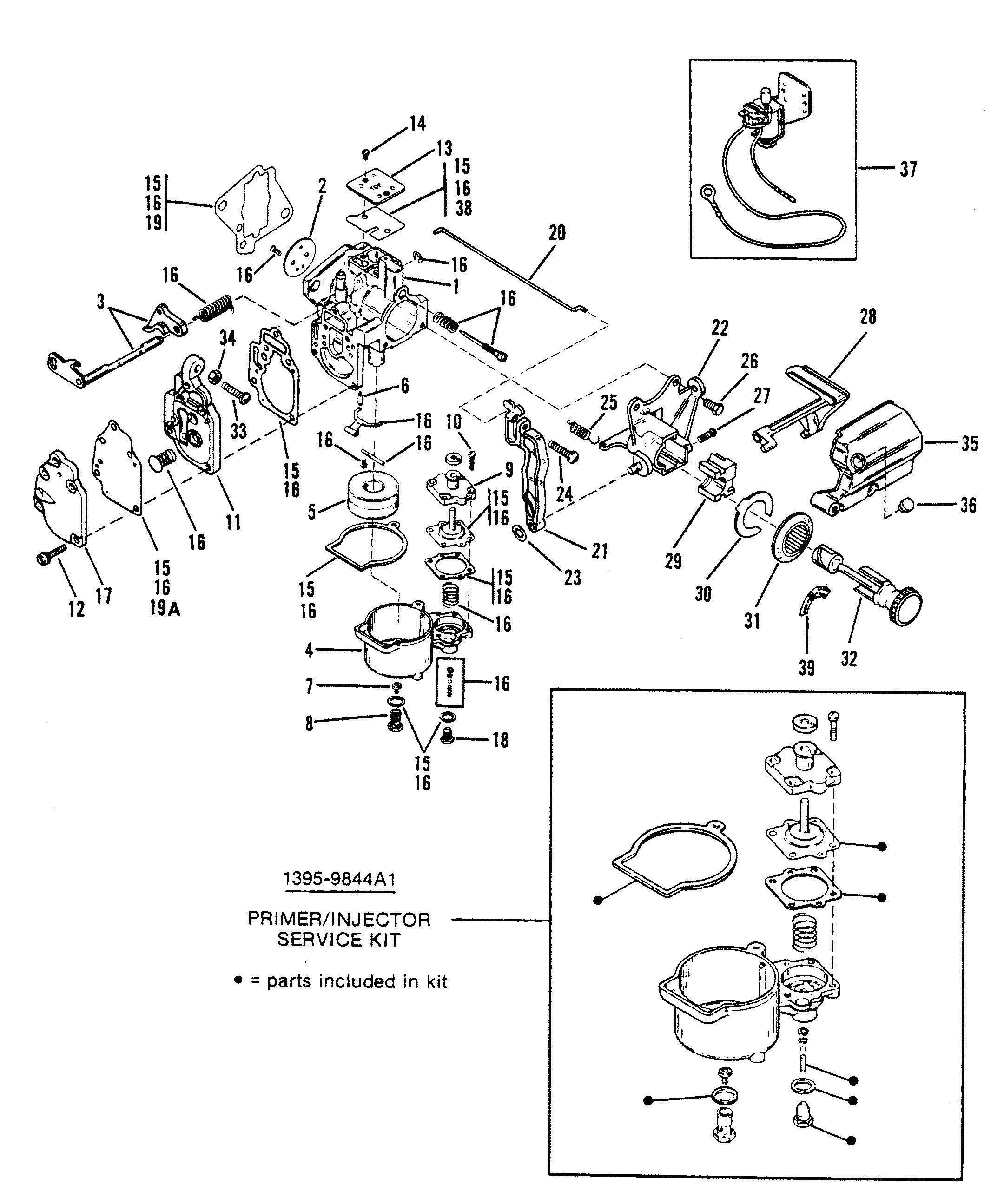 carburetor assembly wmc 1717b17c 1818a18b  20  20a  20b