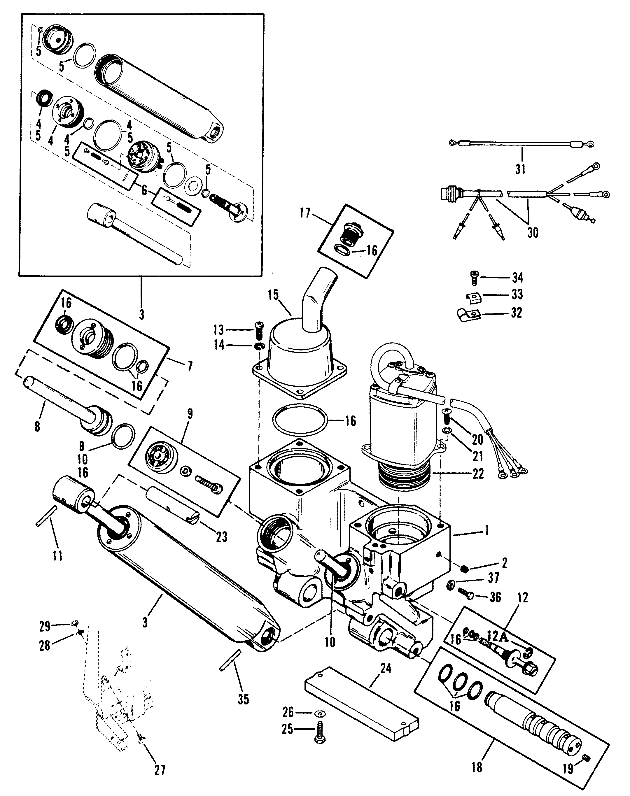 mercruiser power trim hydraulic diagram