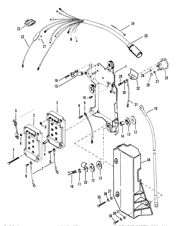wiring harness  starter solenoid for mercury 200 xri efi v