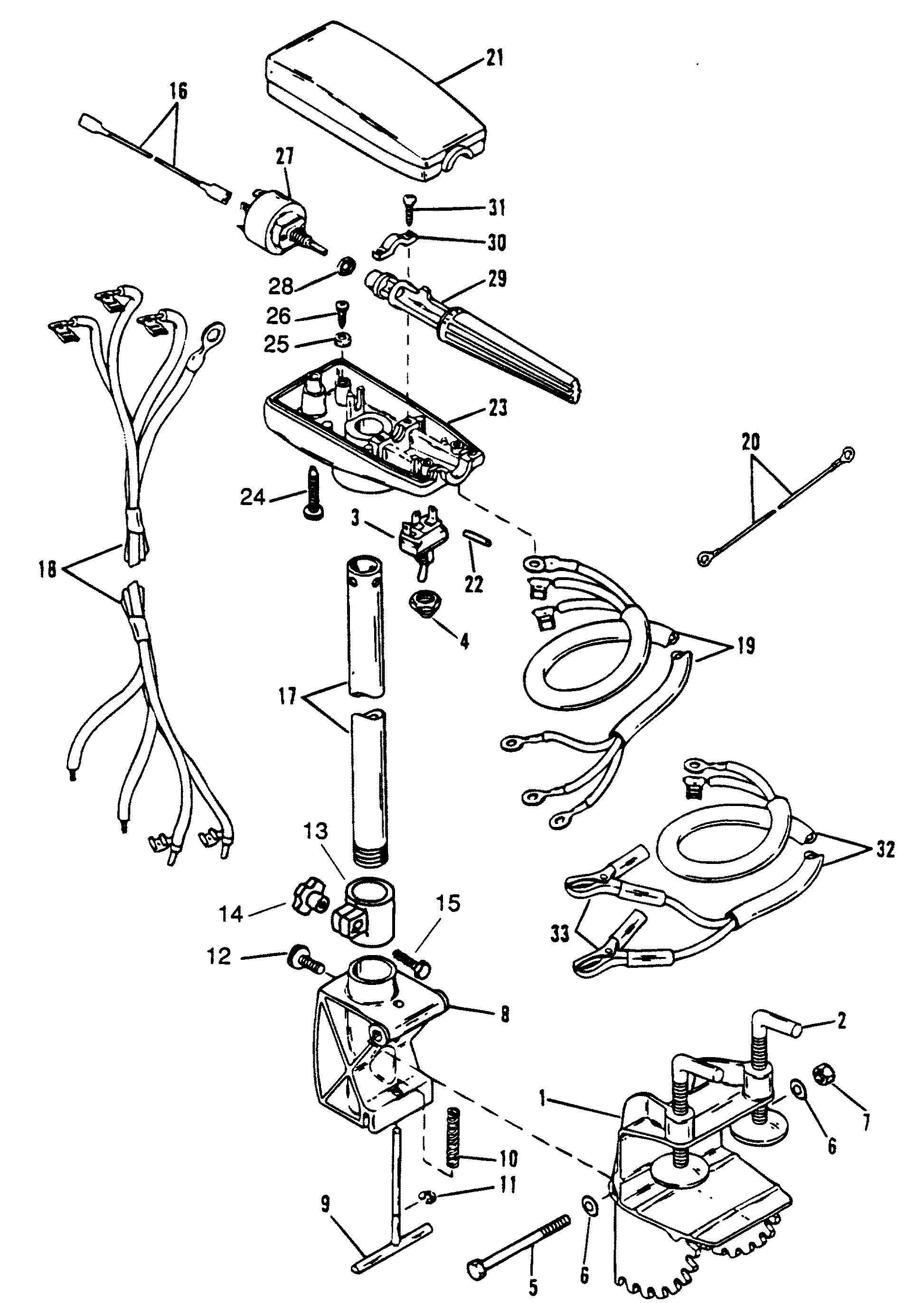 Motorguide Trolling Motor Wiring Diagram Real Brute Drive Shaft And Control Housing Tm For Mariner Mercury Plug